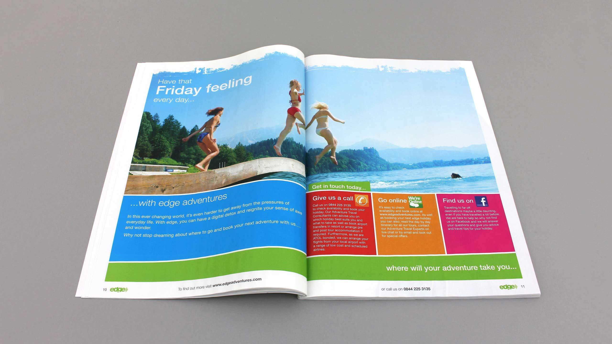 18-30 travel brochure design that friday feeling pages edge adventure