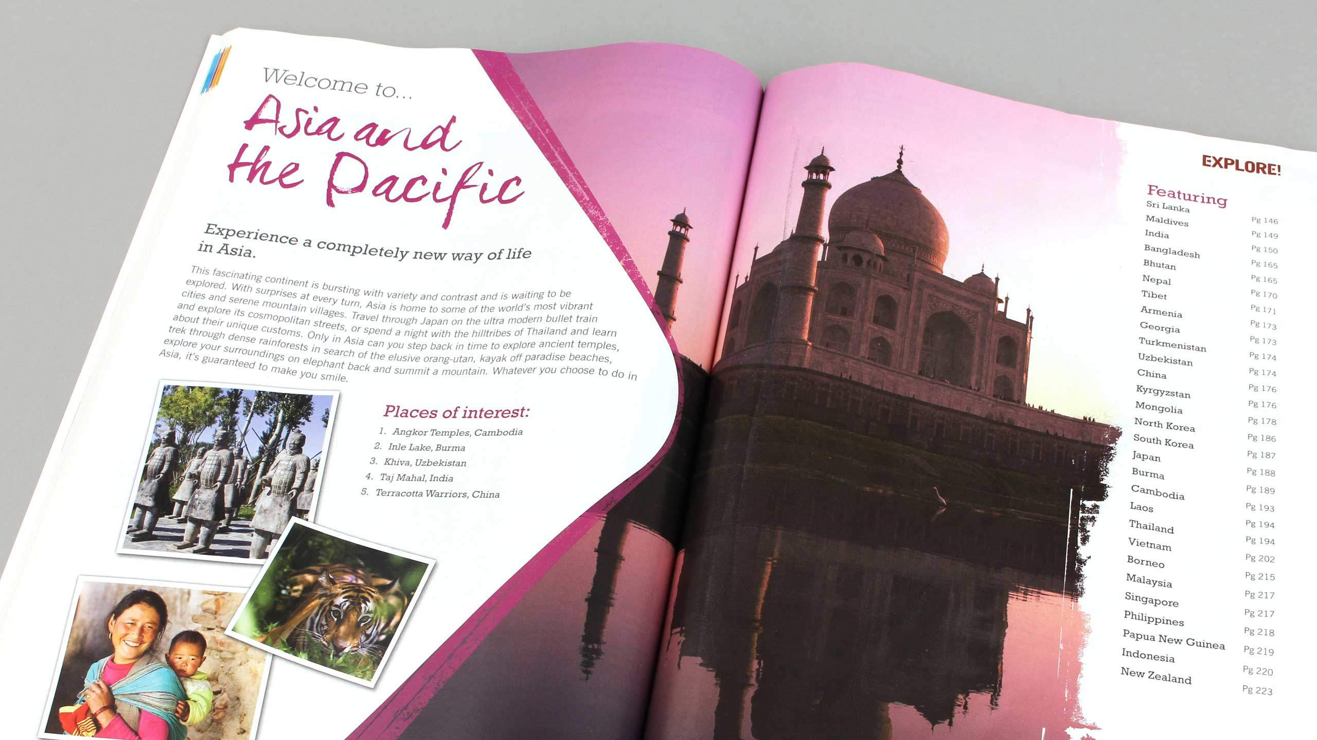 adventure travel brochure design asia pacific pages explore worldwide