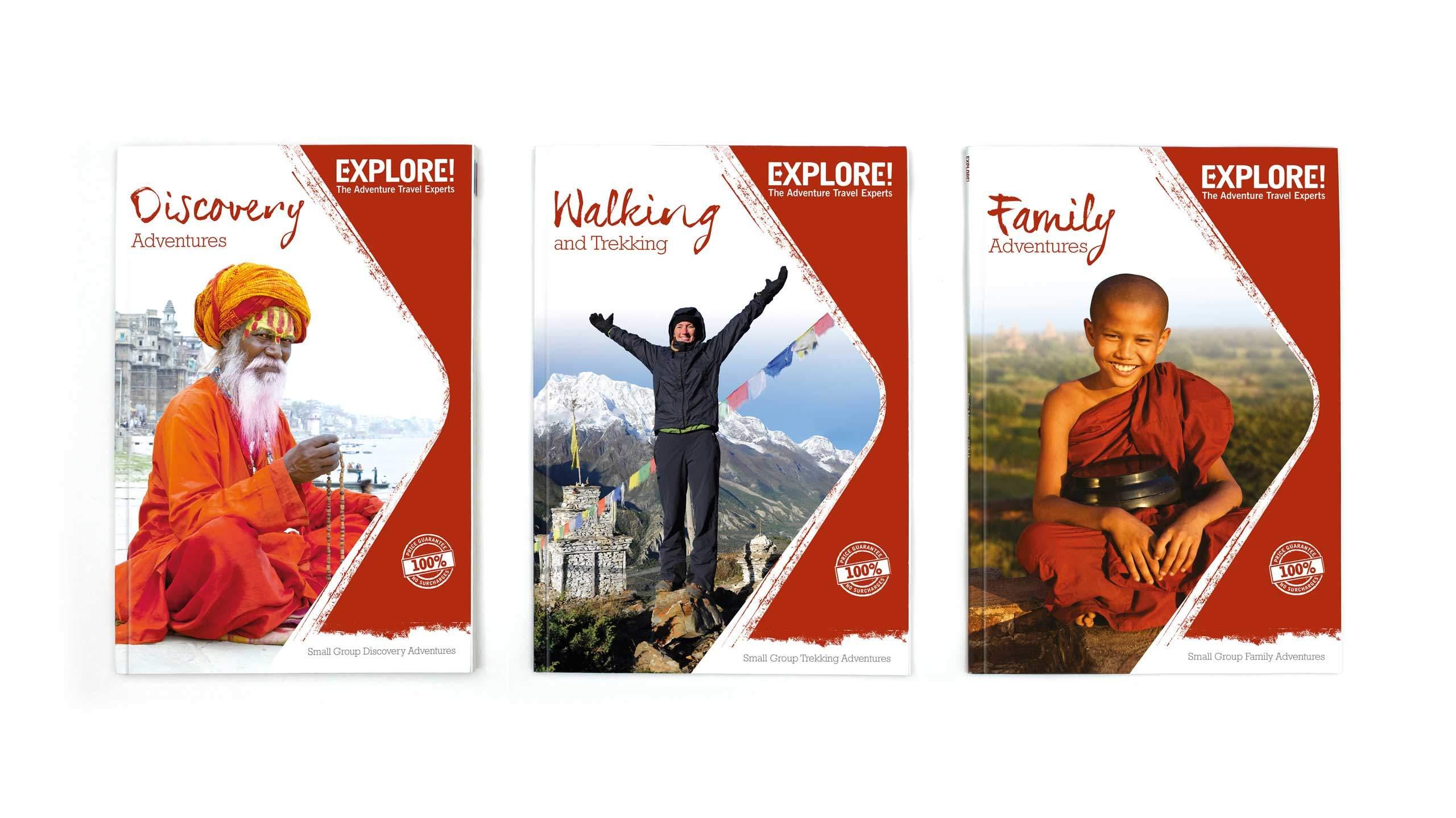 adventure travel brochure design front covers explore worldwide