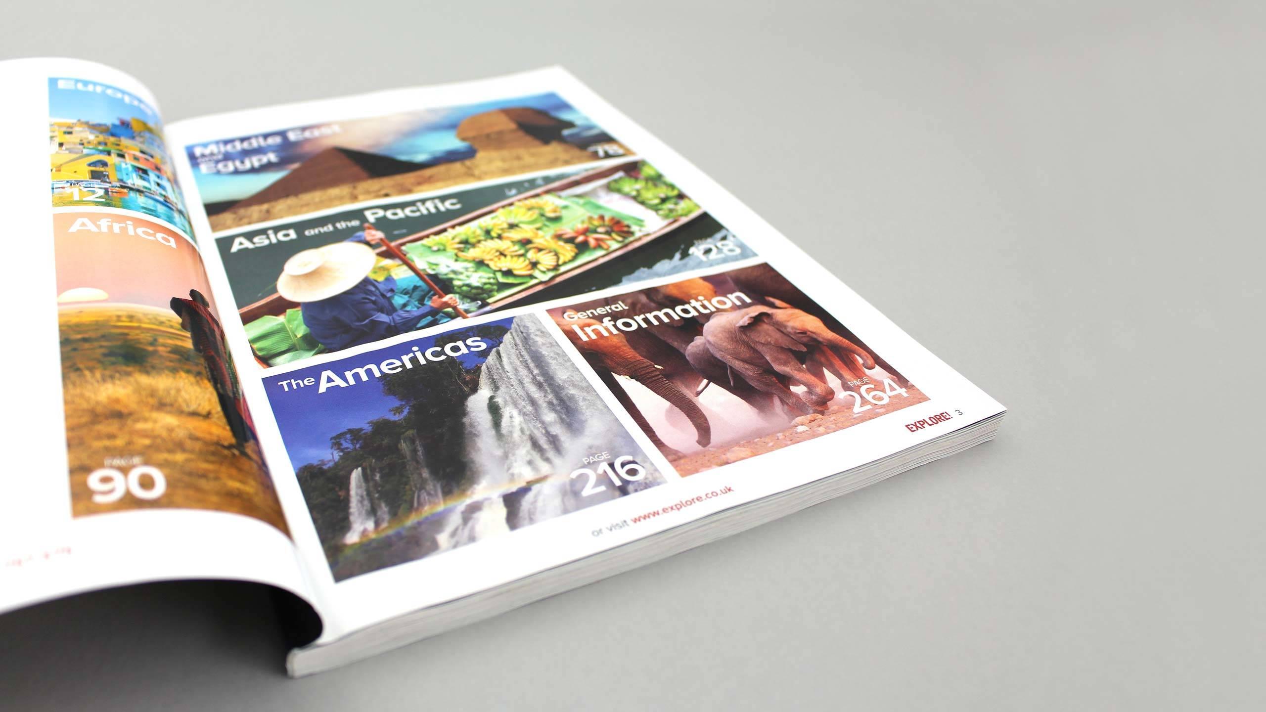 adventure travel brochure design refresh content pages explore worldwide