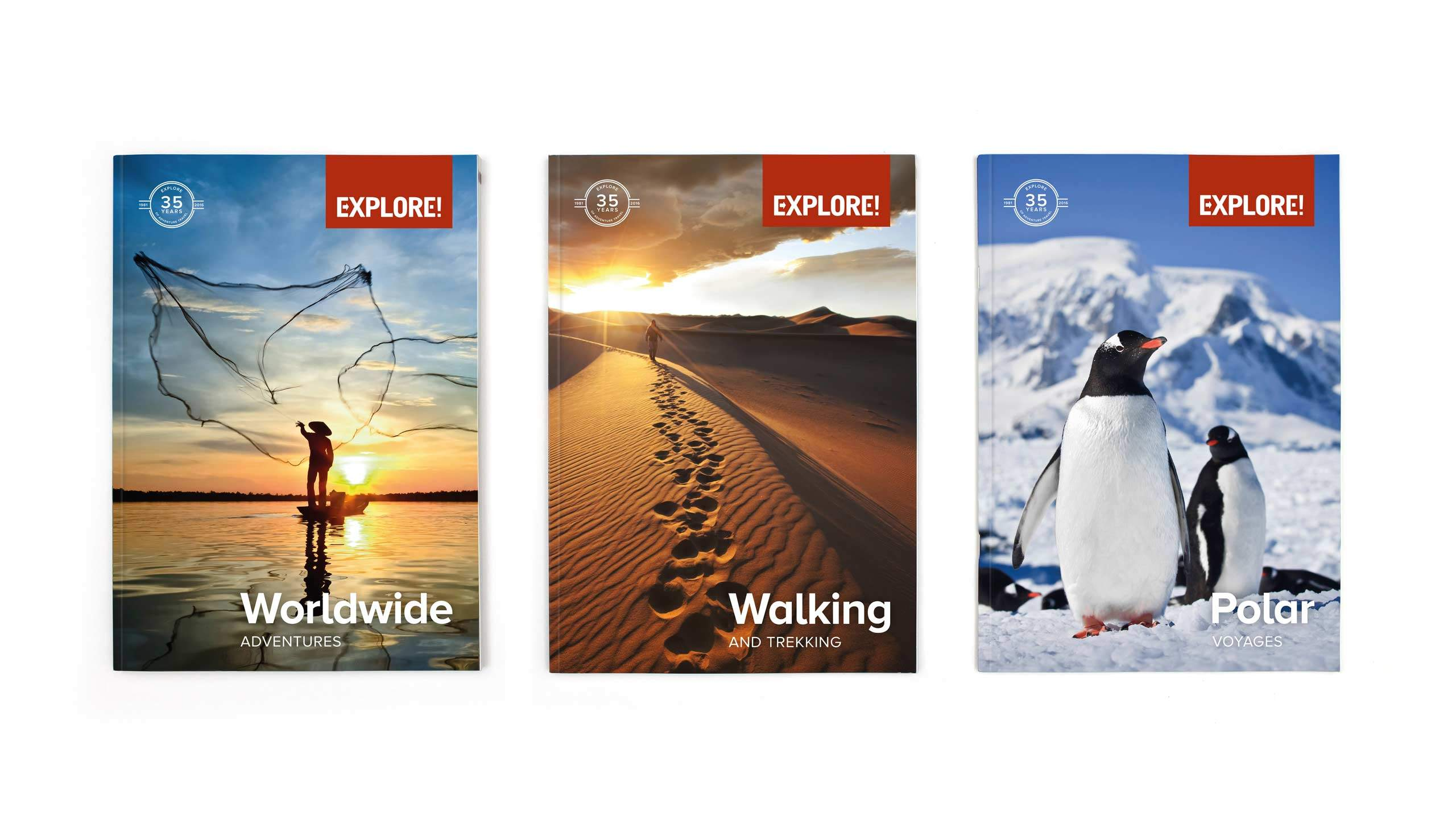 Explore brochure covers for brand refresh