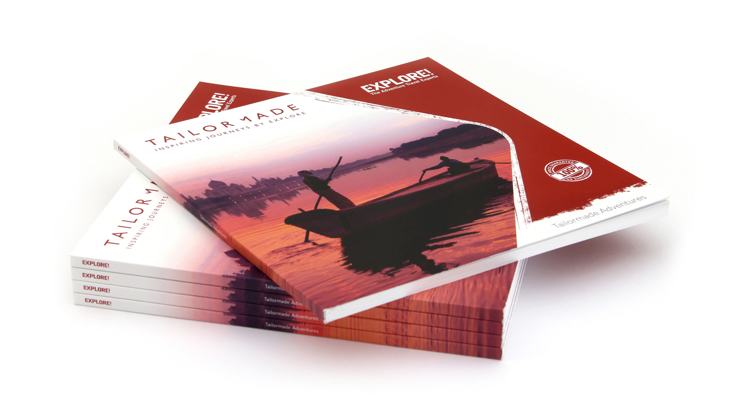 bespoke travel brochure design font cover stack explore tailor made