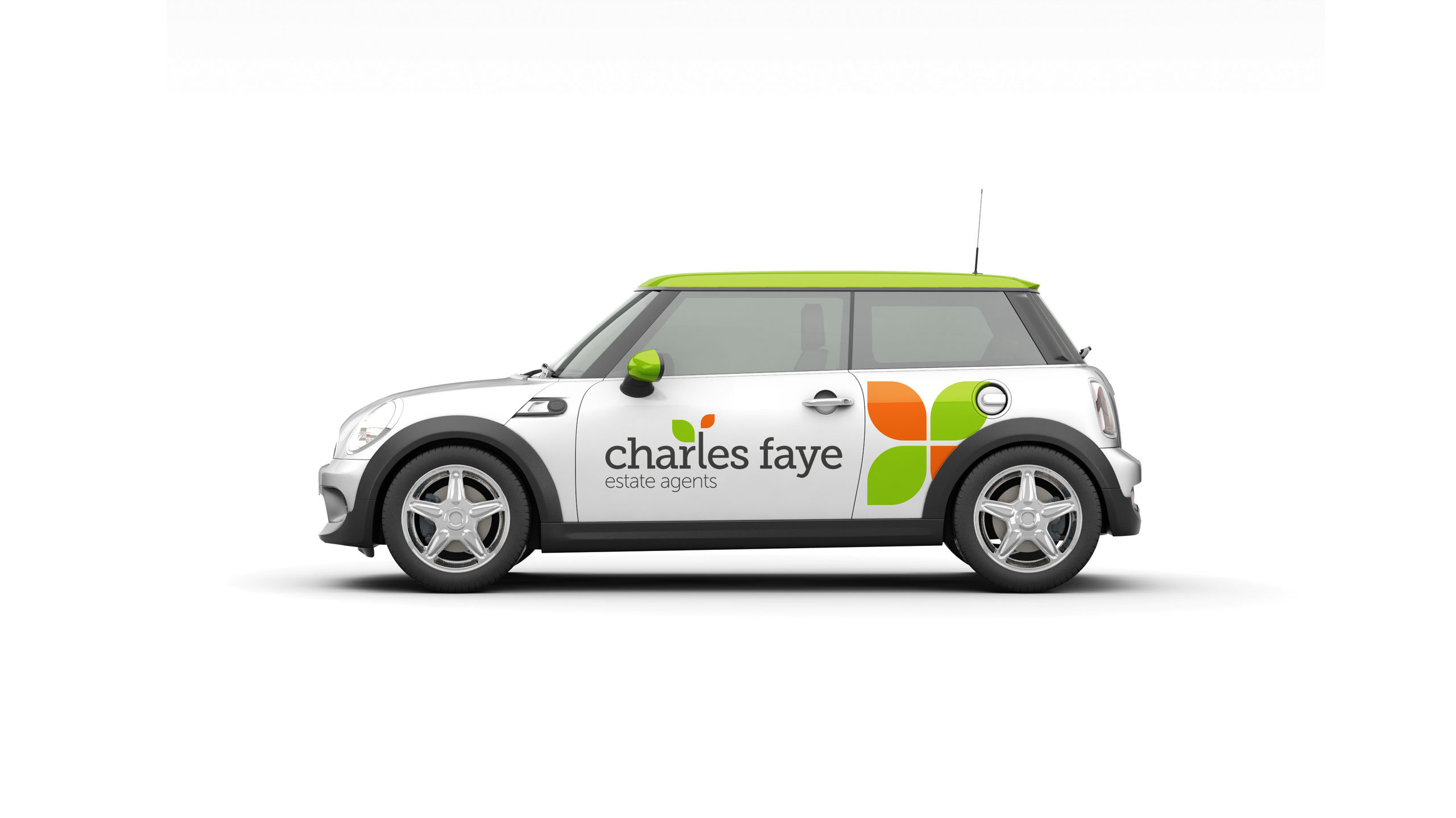 Charles Faye logo design and branding Mini Cooper graphics