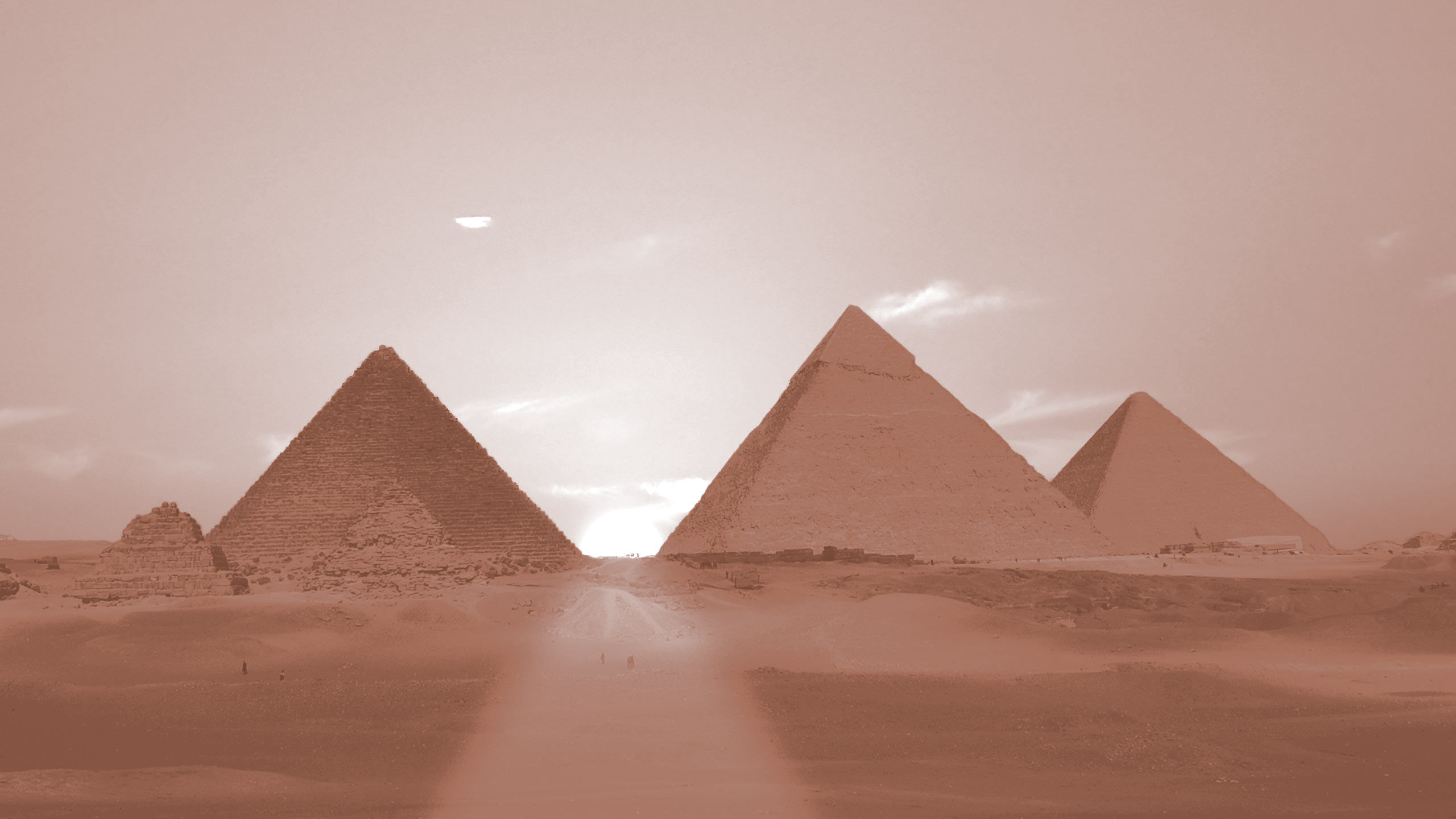 luxury hotels branding hero image duotone pyramids red sea hotels