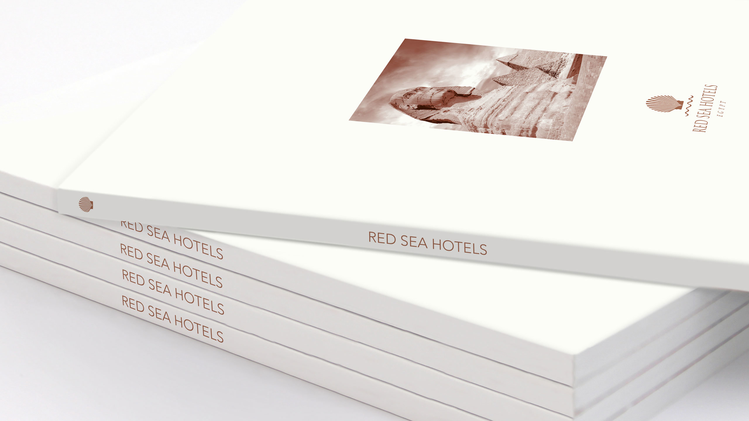 luxury hotels brochure design brochure stack red sea hotels
