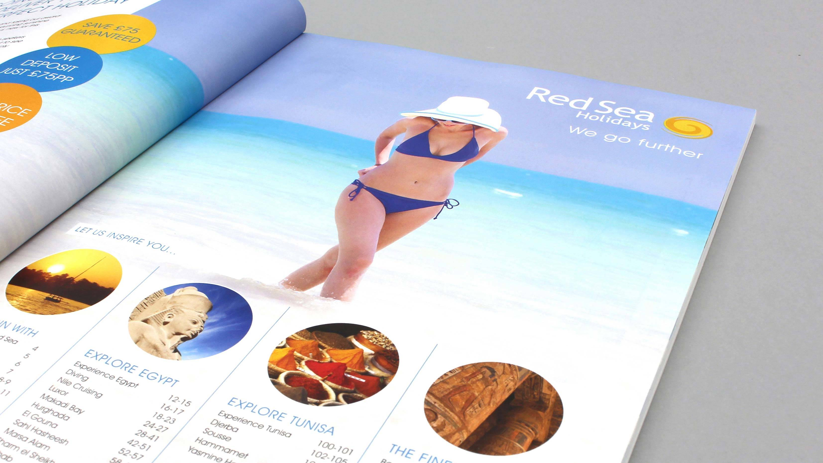 tour operator brochure design we go further intro pages red sea holidays