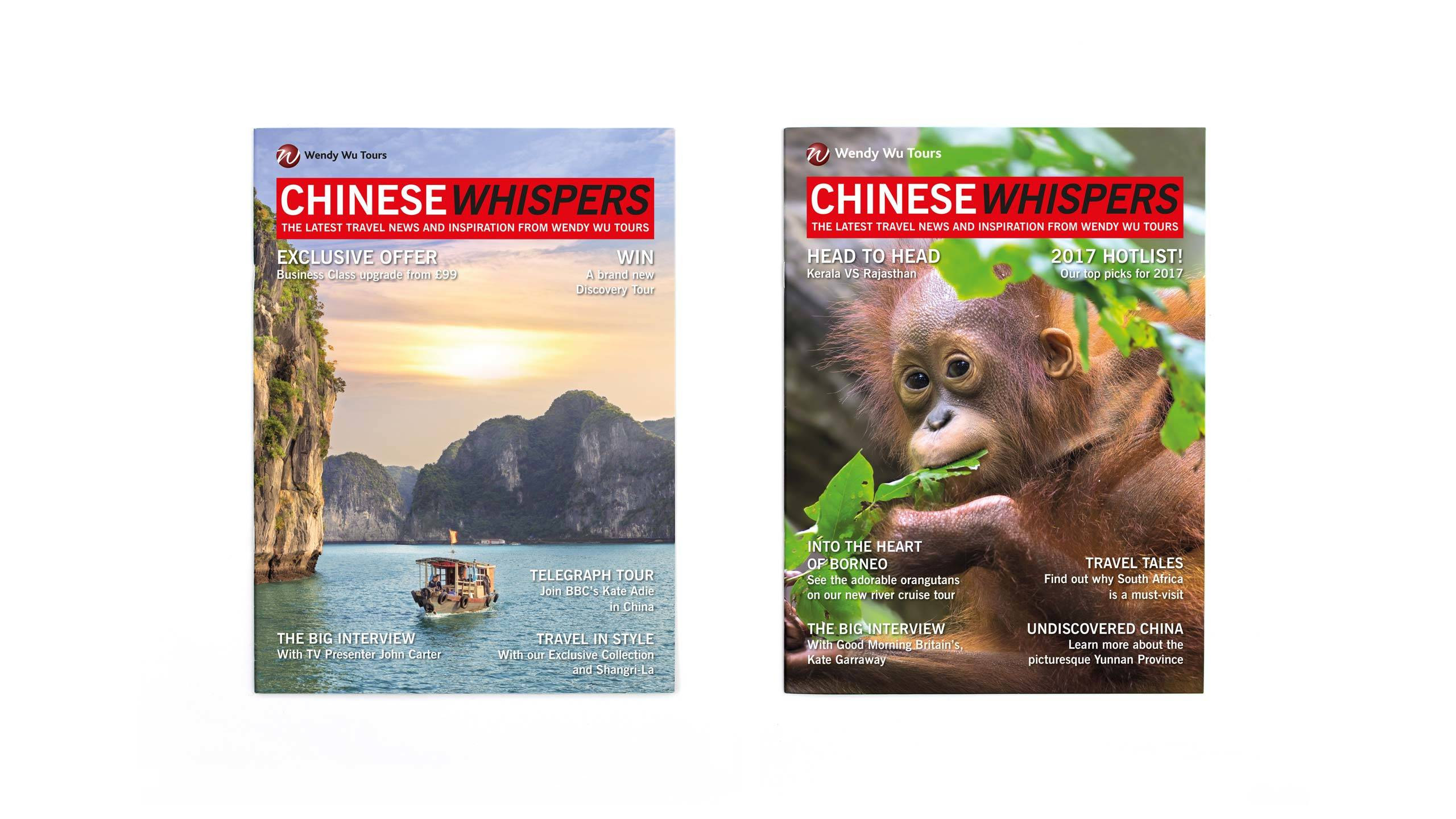 travel company brochure design magazine front covers wendy wu