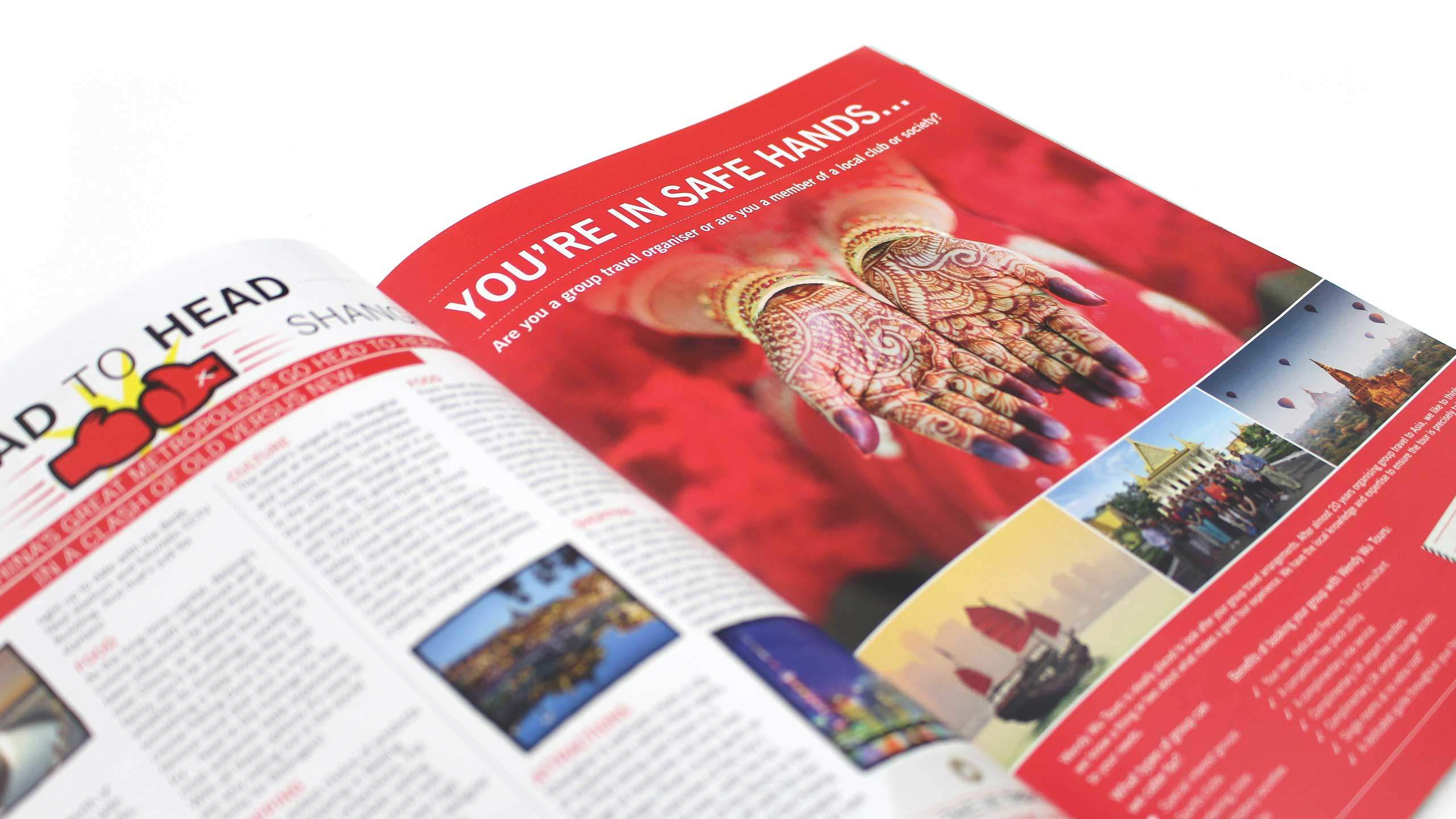 travel company brochure design your in safe hands pages wendy wu