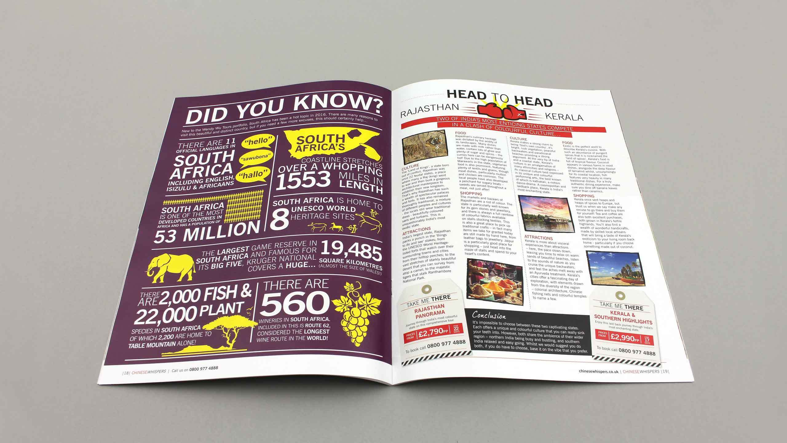 travel company graphic design did you know head head pages wendy wu