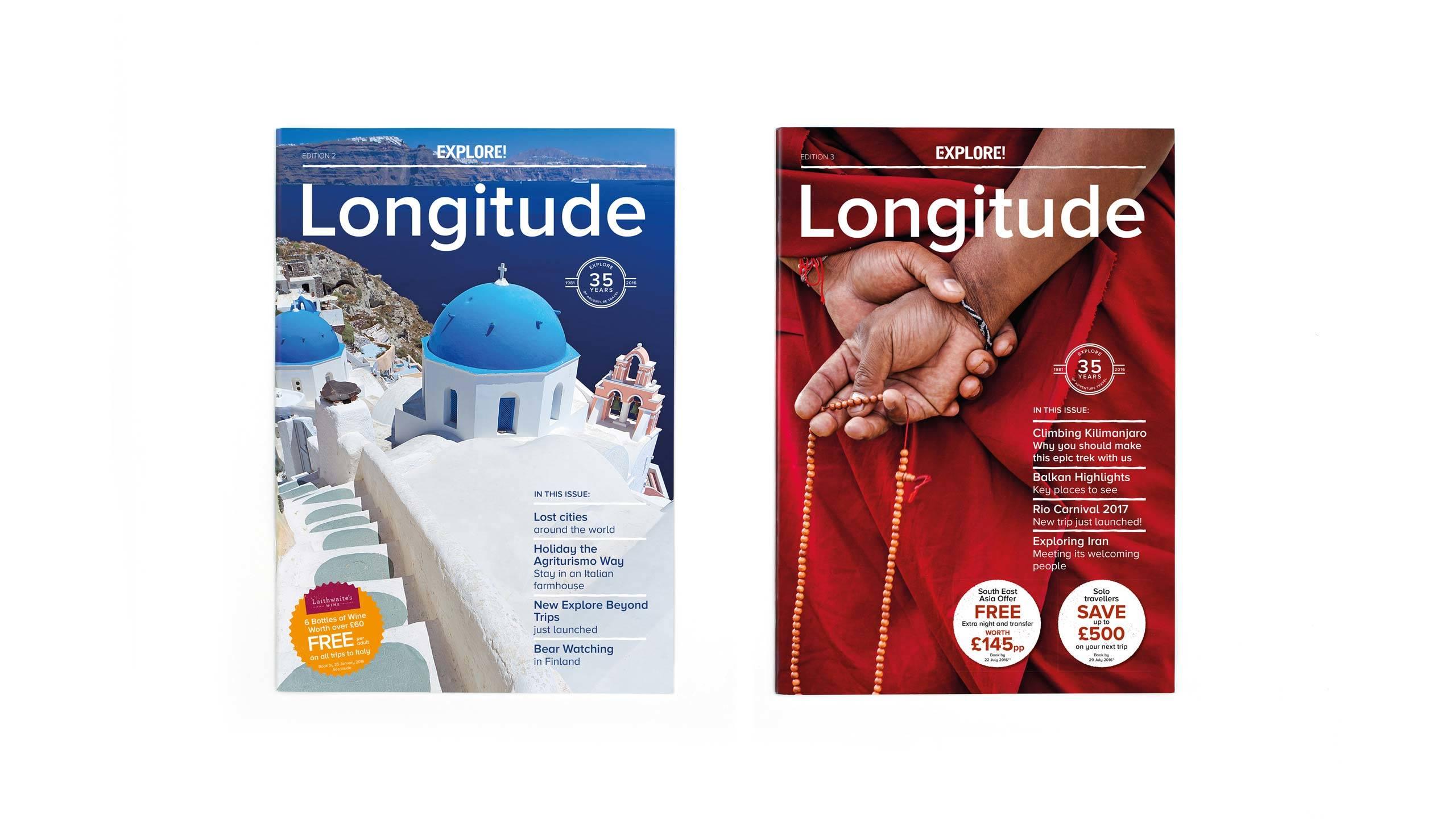 travel magazine brochure design front covers longitude
