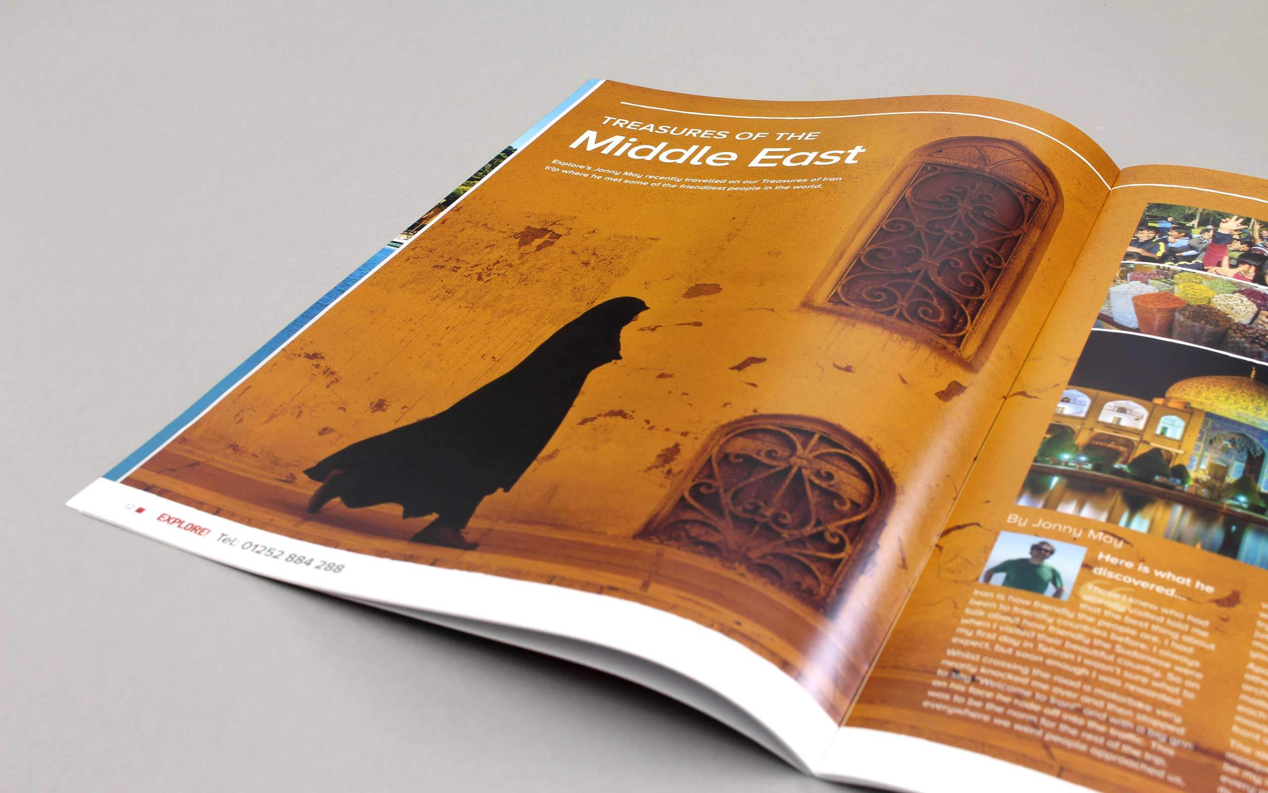 travel magazine brochure design treasure of middle east pages longitude