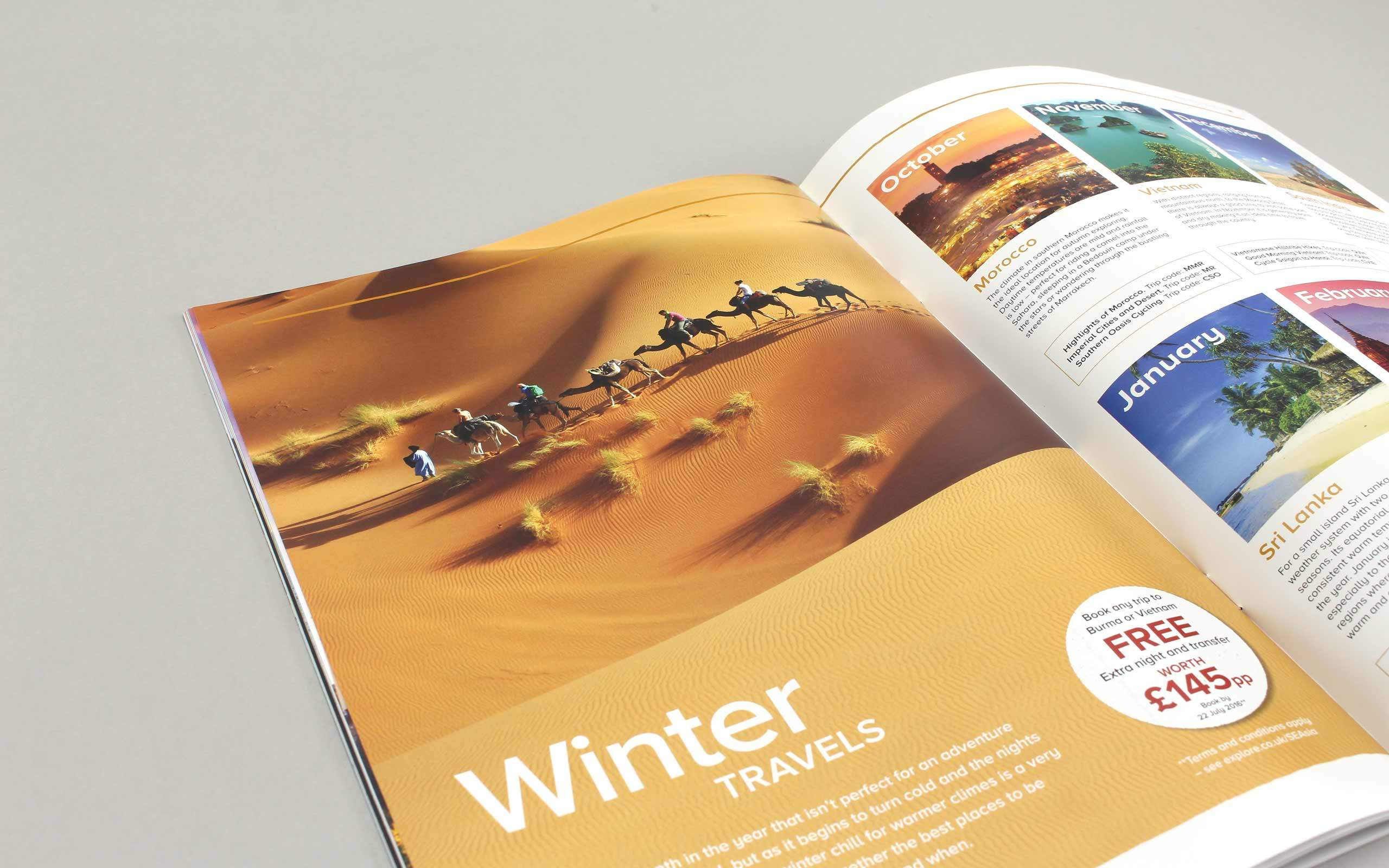 travel magazine brochure design winter travel months pages longitude