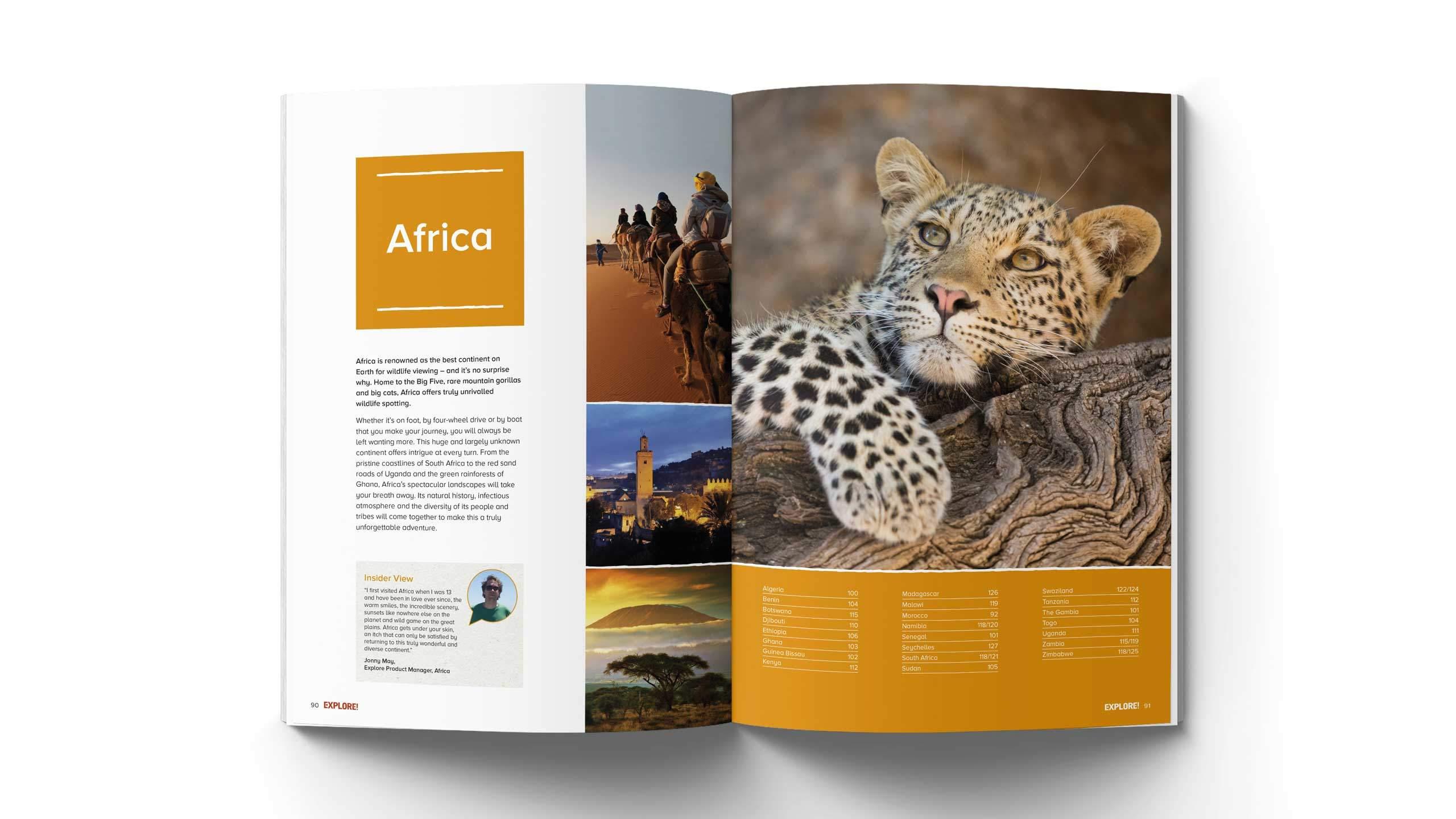 adventure travel branding refresh africa intro pages explore worldwide