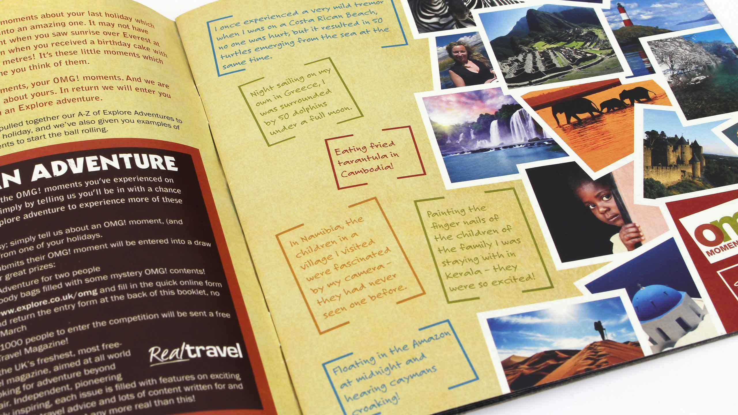 adventure travel brochure design omg moments pages omg marketing campaign