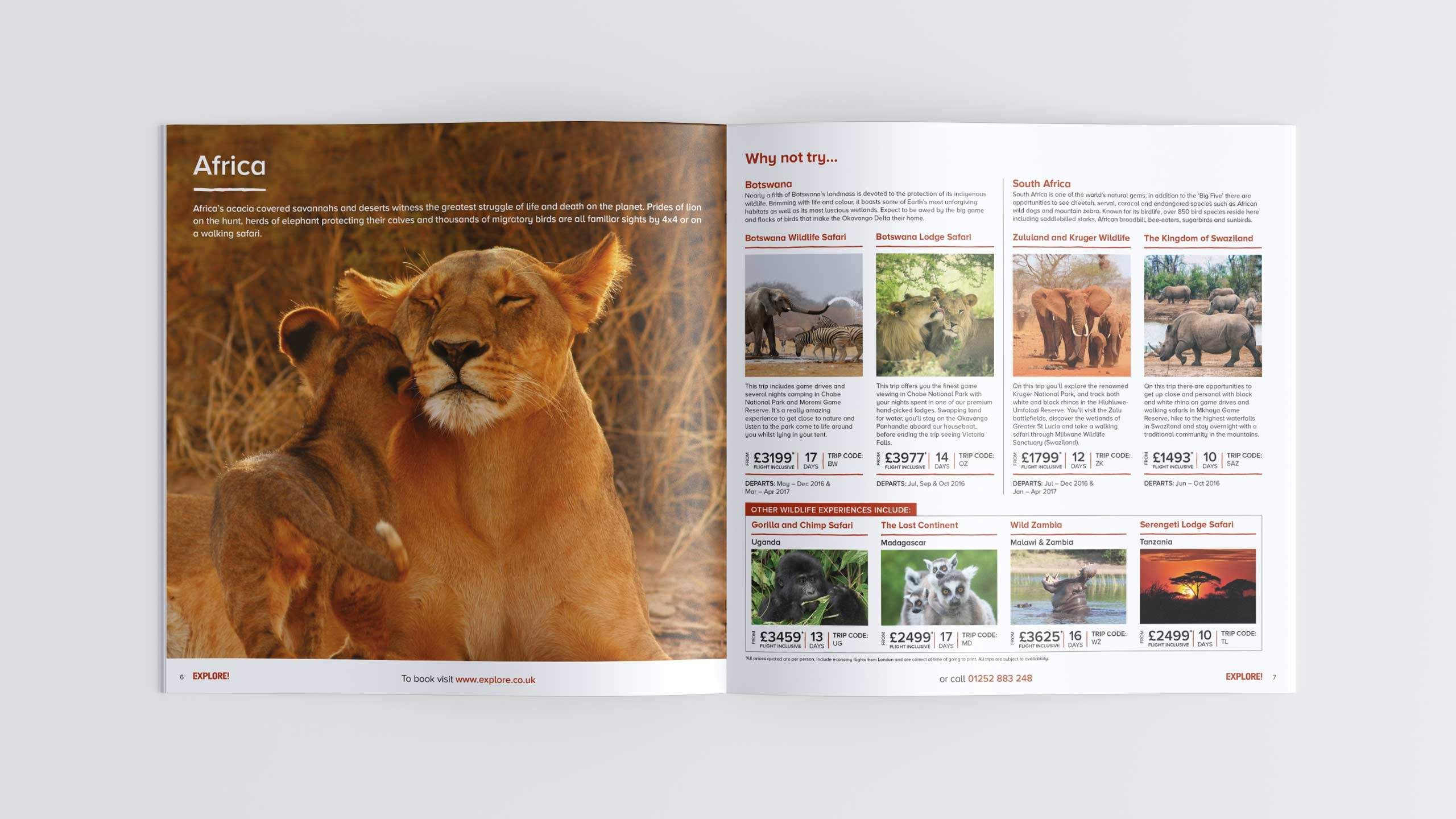 adventure travel brochure design refresh africa intro pages wild life direct marketing