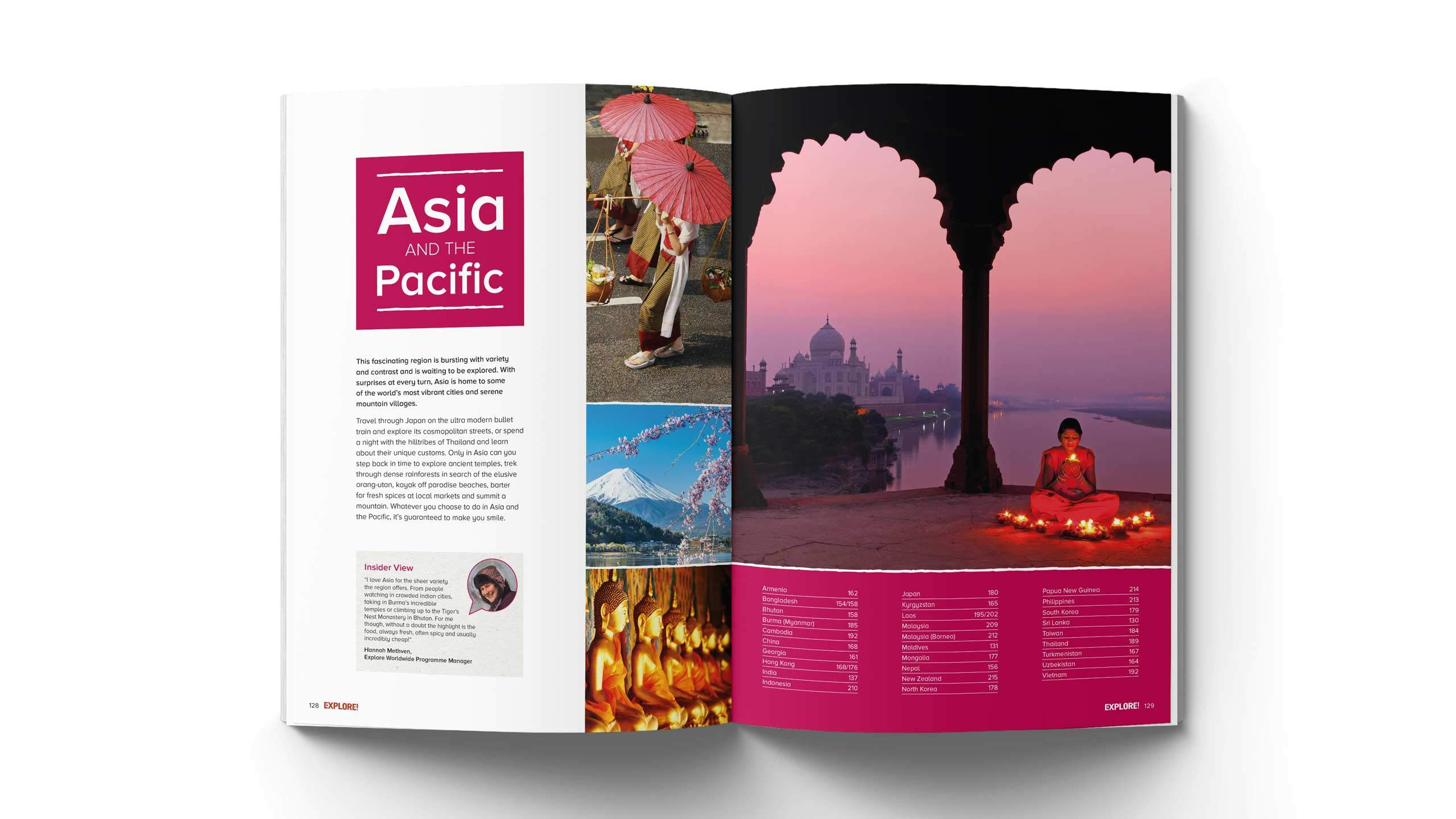 adventure travel brochure design refresh asia pacific pages explore worldwide