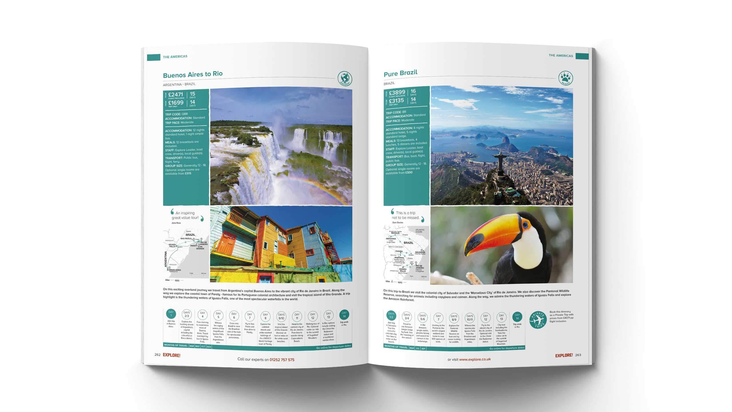 adventure travel brochure design refresh buenos aires rio brazil pages explore worldwide