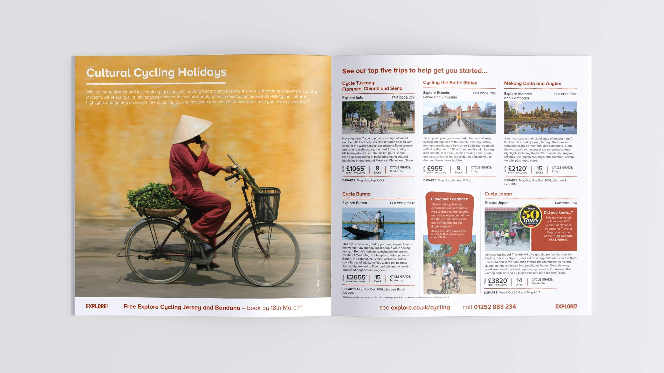 adventure travel brochure design refresh cultural cycling holidays pages cycling direct marketing