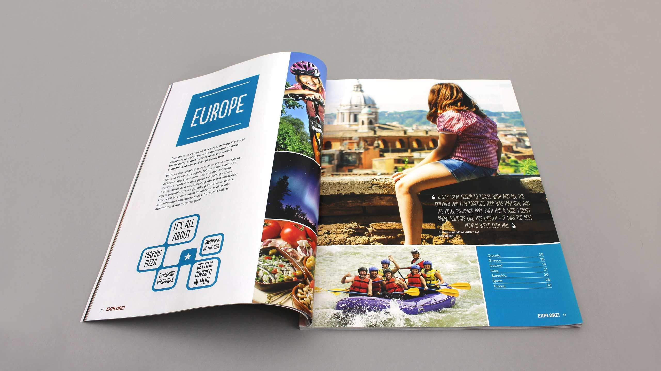 adventure travel brochure design refresh family europe intro pages explore worldwide