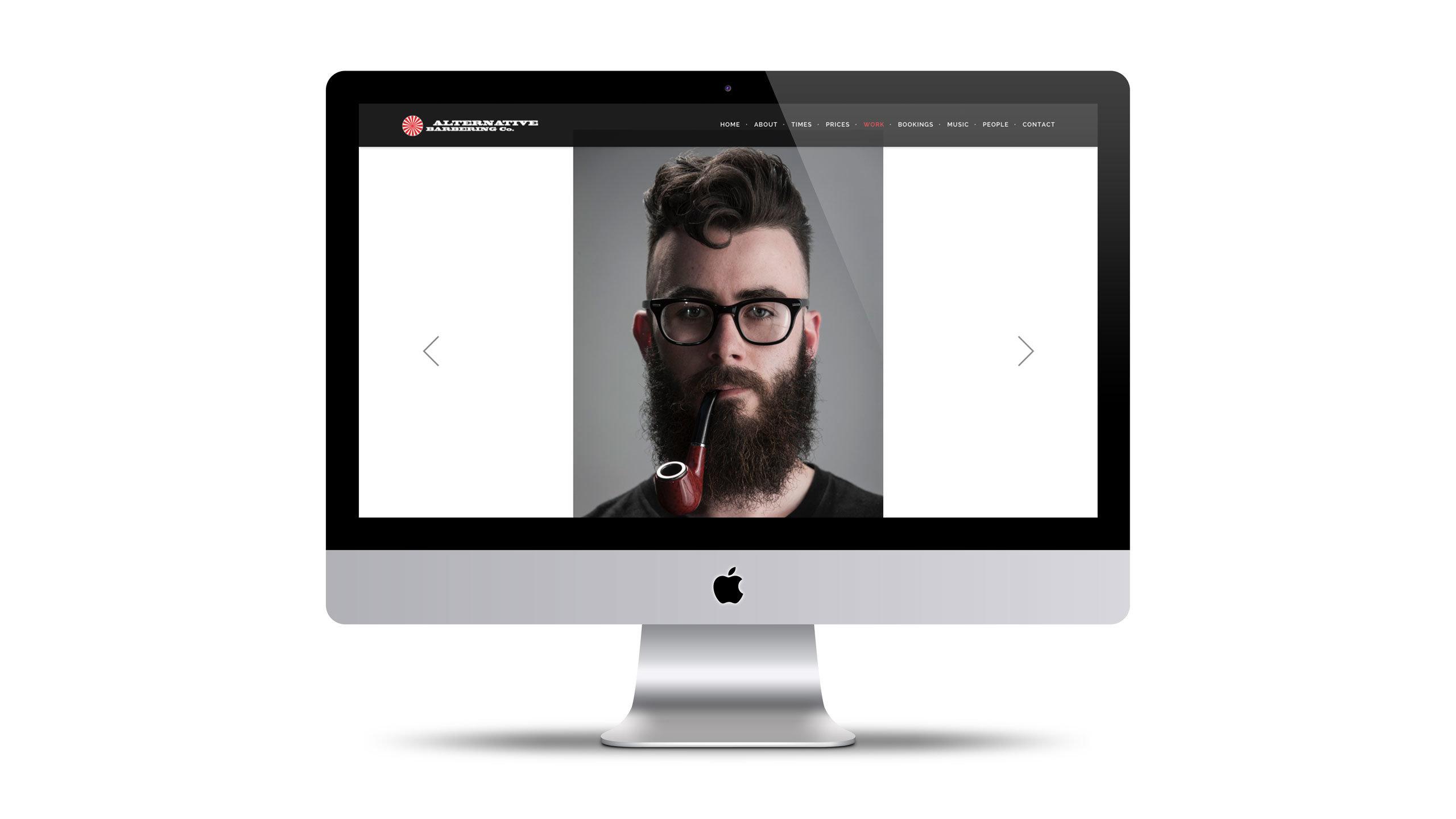 barbershop website design beardy pipe man page alternative barbering co