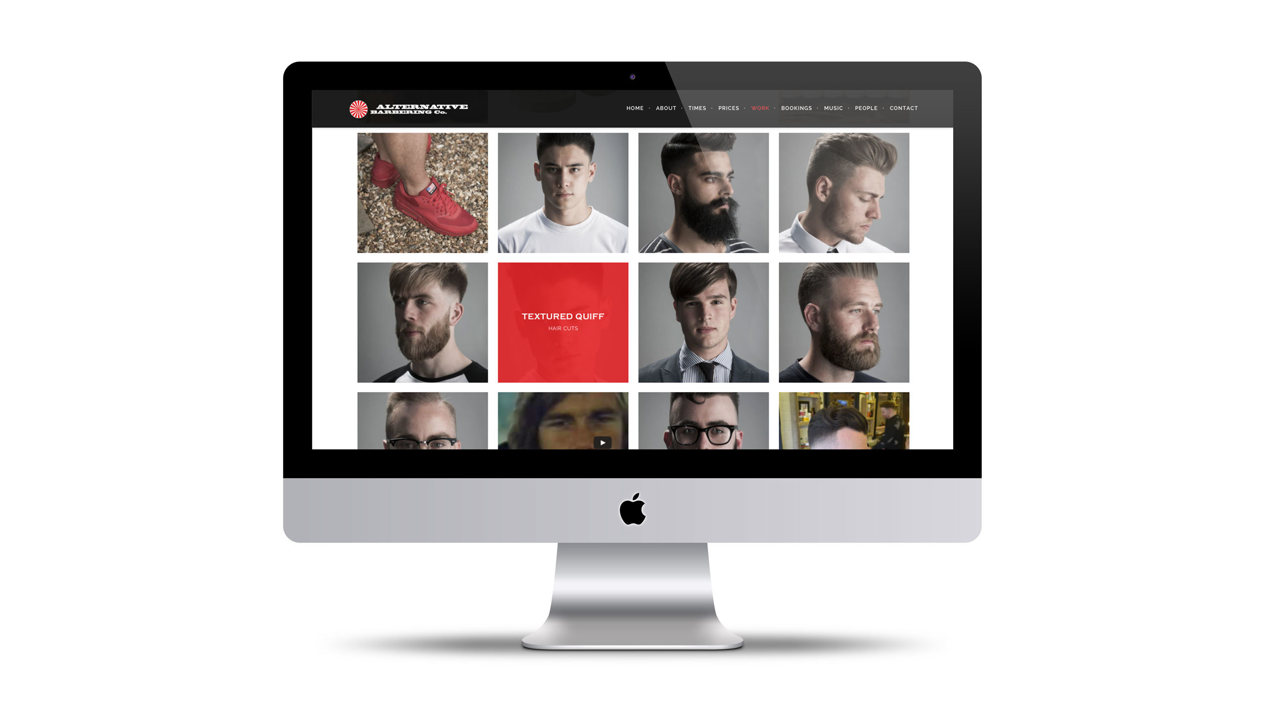 barbershop website design different haircuts page alternative barbering co