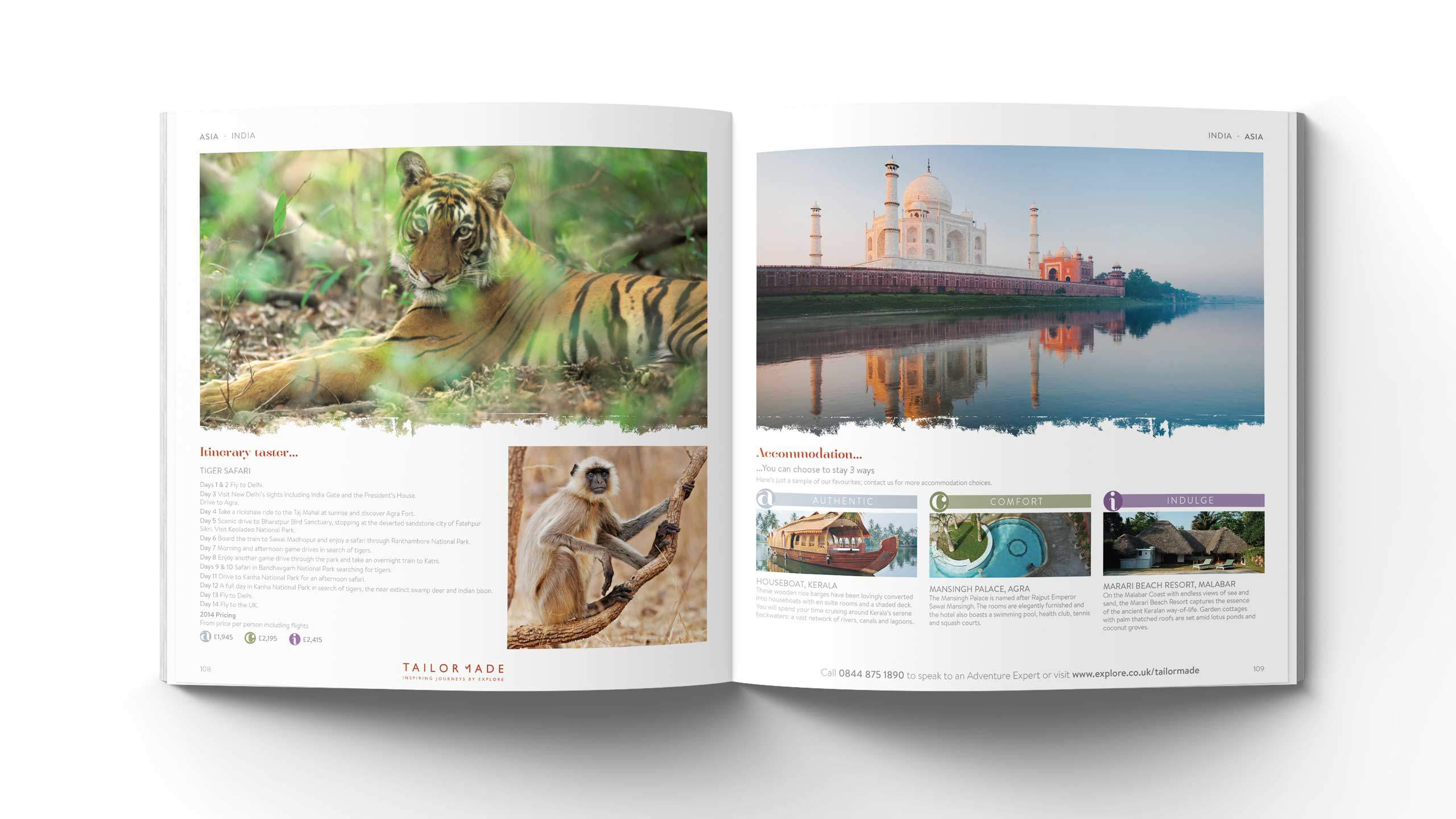 bespoke travel brochure design asia india pages explore tailor made