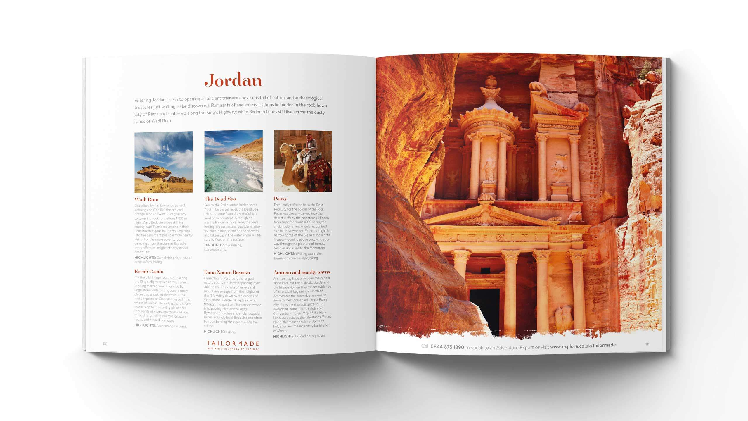 bespoke travel brochure design jordon petra pages explore tailor made
