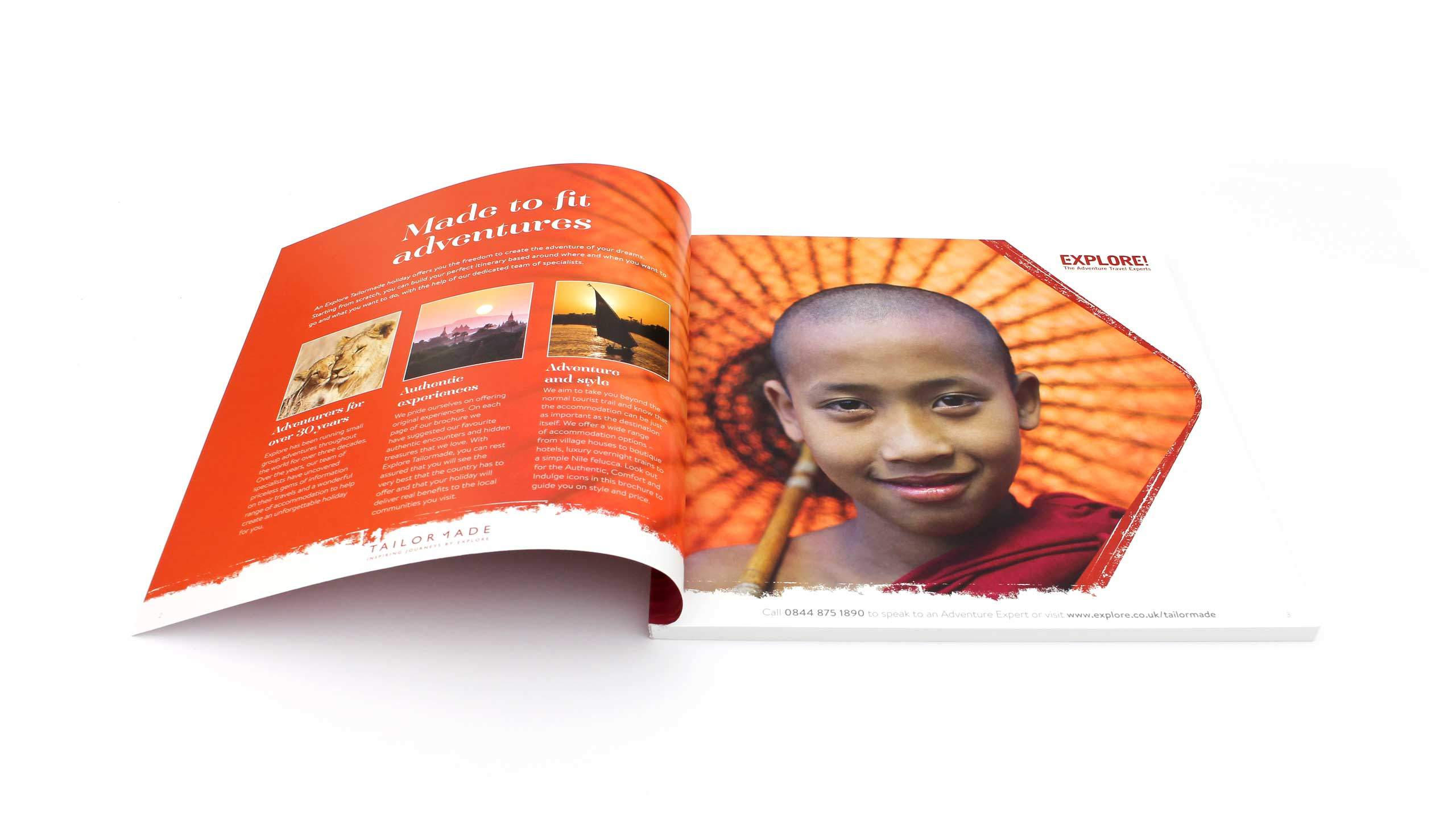 bespoke travel brochure design made to fit adventure pages explore tailor made