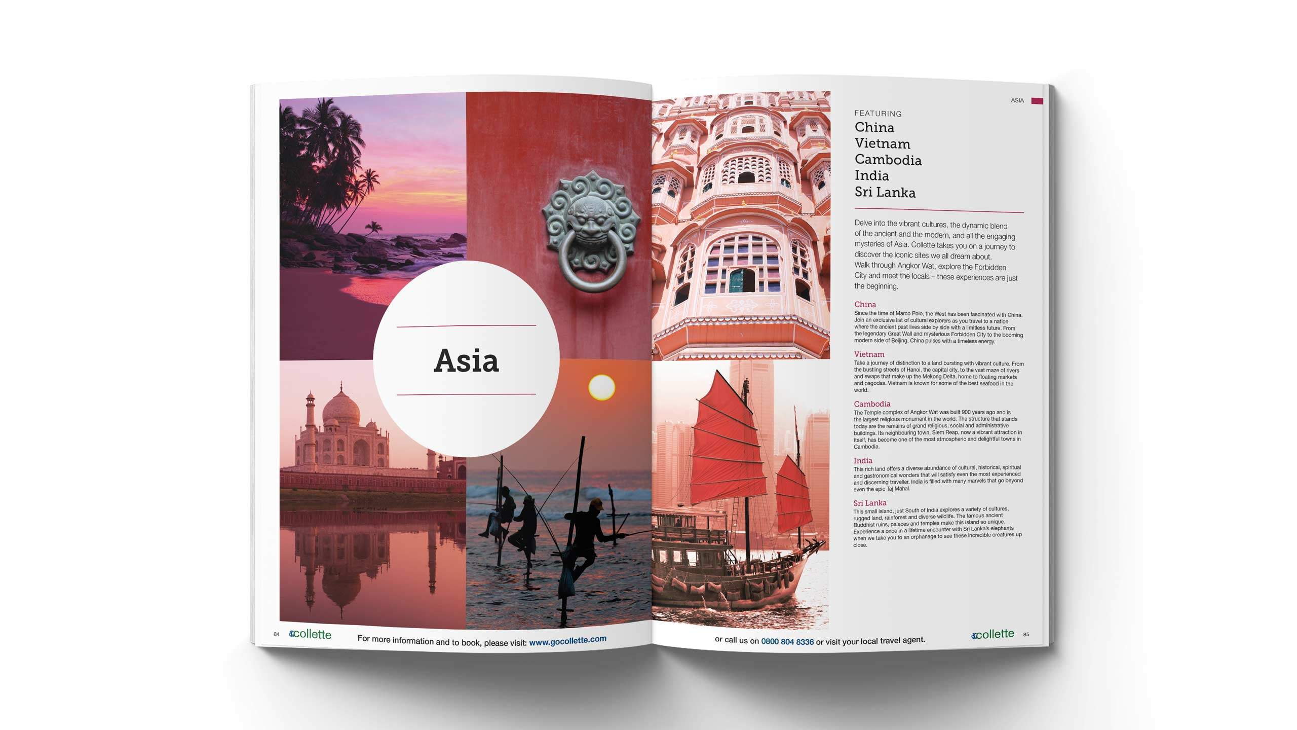 escorted travel brochure design asia pages collette thomas cook