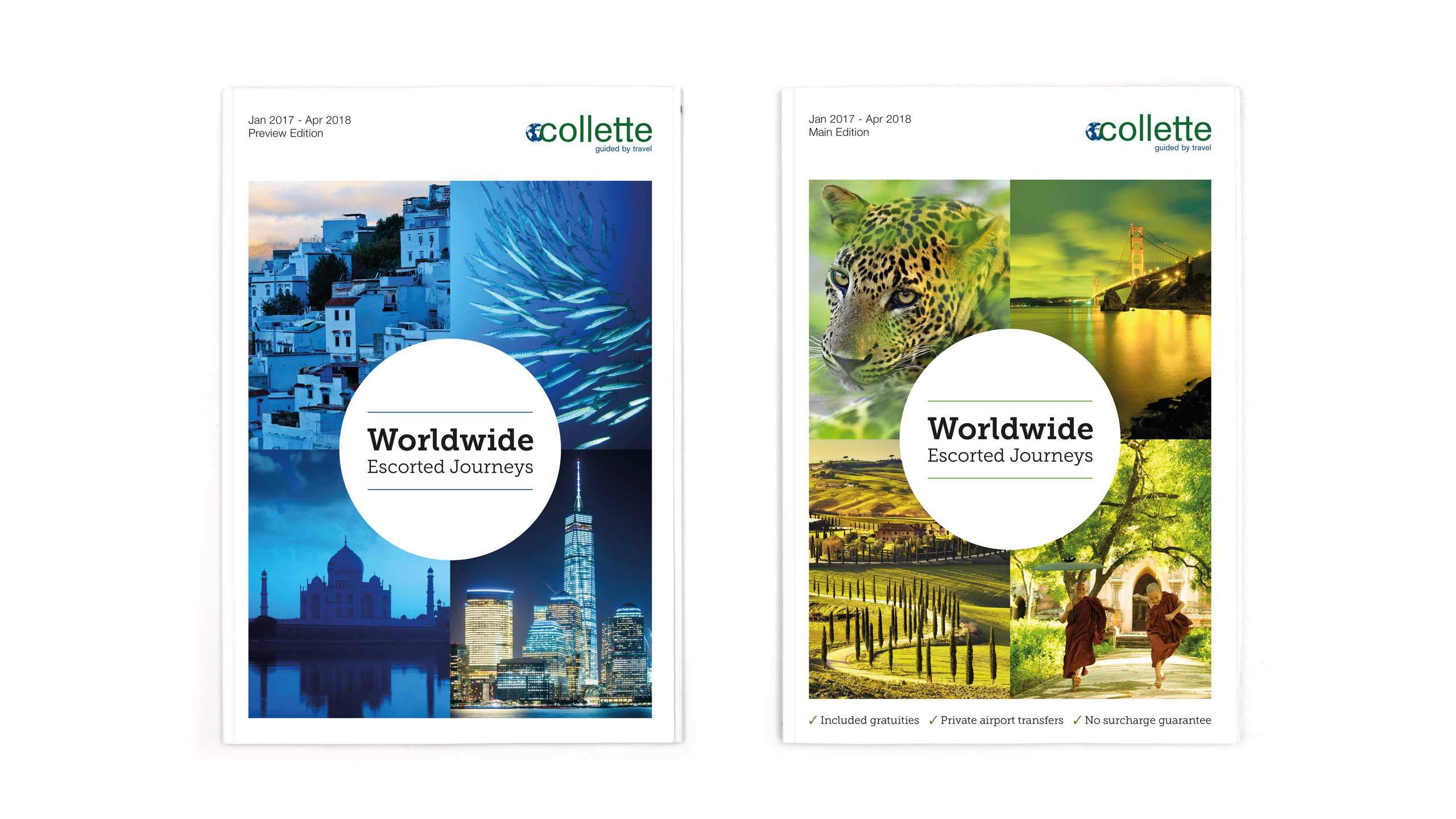 escorted travel brochure design collette front covers collette thomas cook