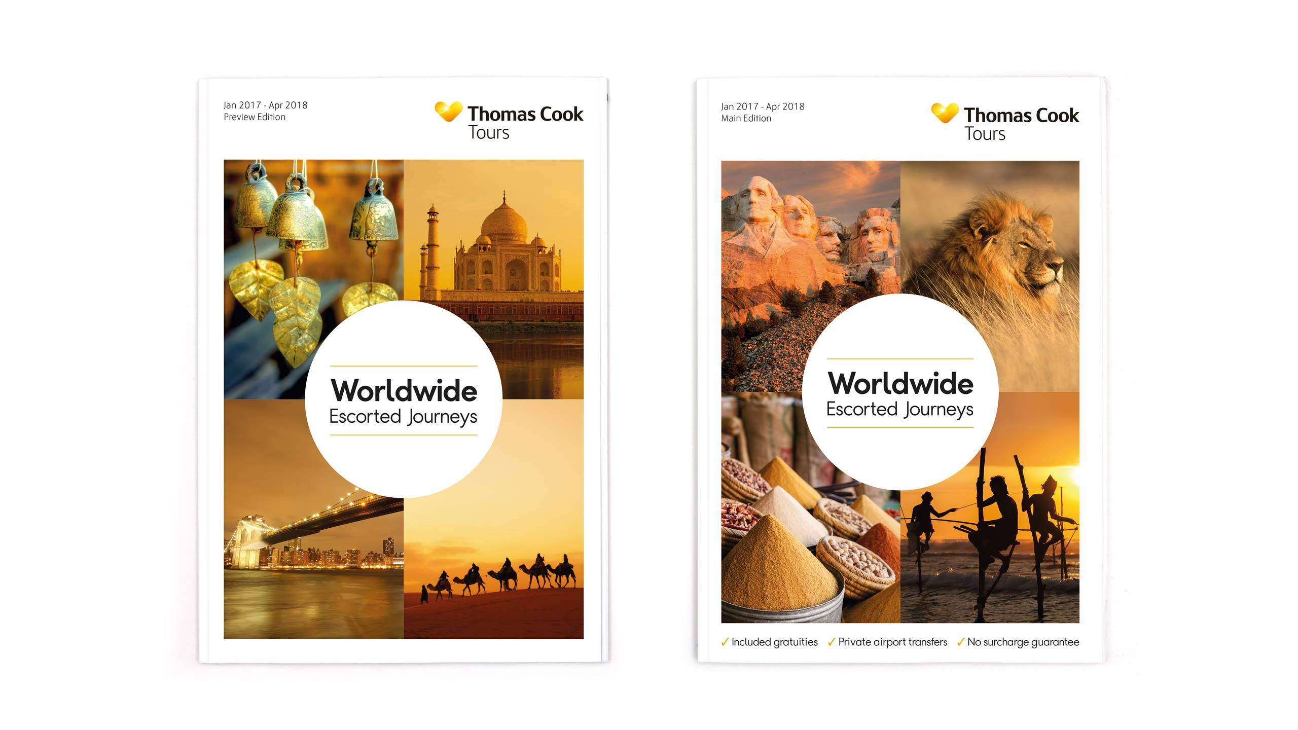 escorted travel brochure design thomas cook front covers collette thomas cook