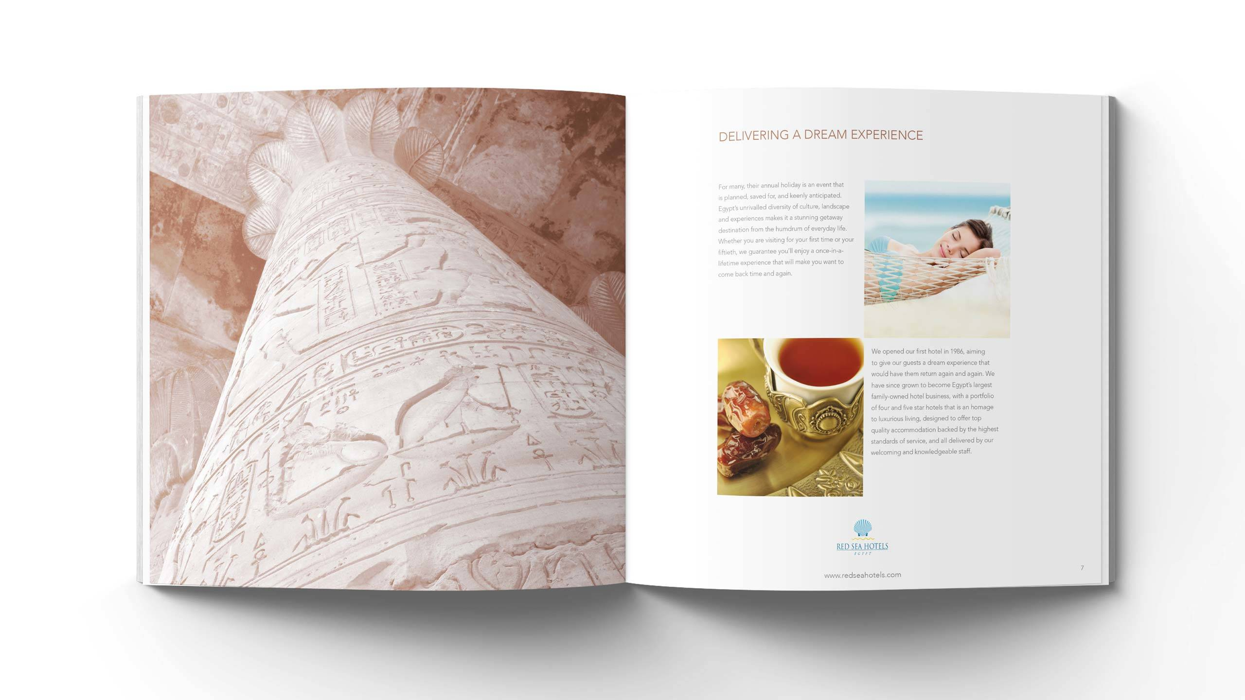 luxury hotels brochure design dream experience pages red sea hotels