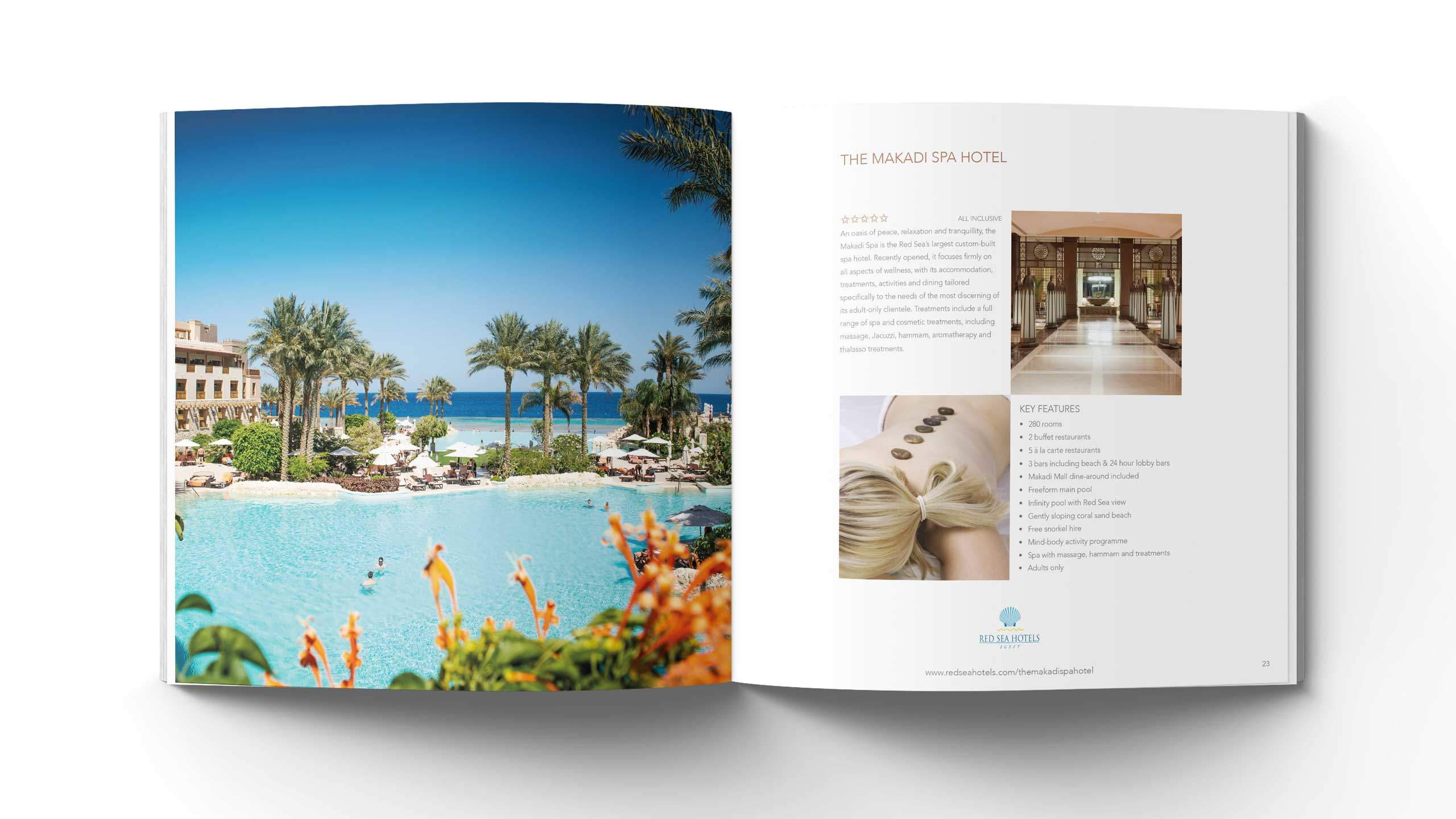 luxury hotels brochure design makadi spa hotel pages red sea hotels