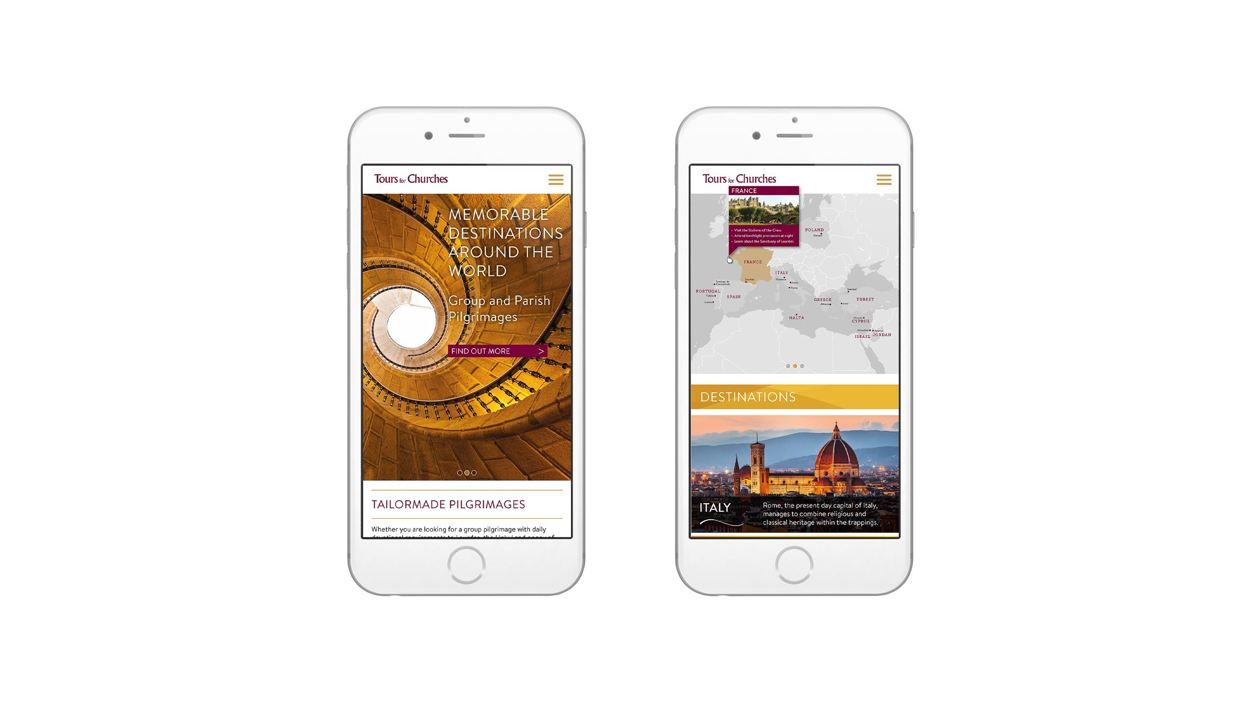 religious tours website design home map pages iphone tours for churches