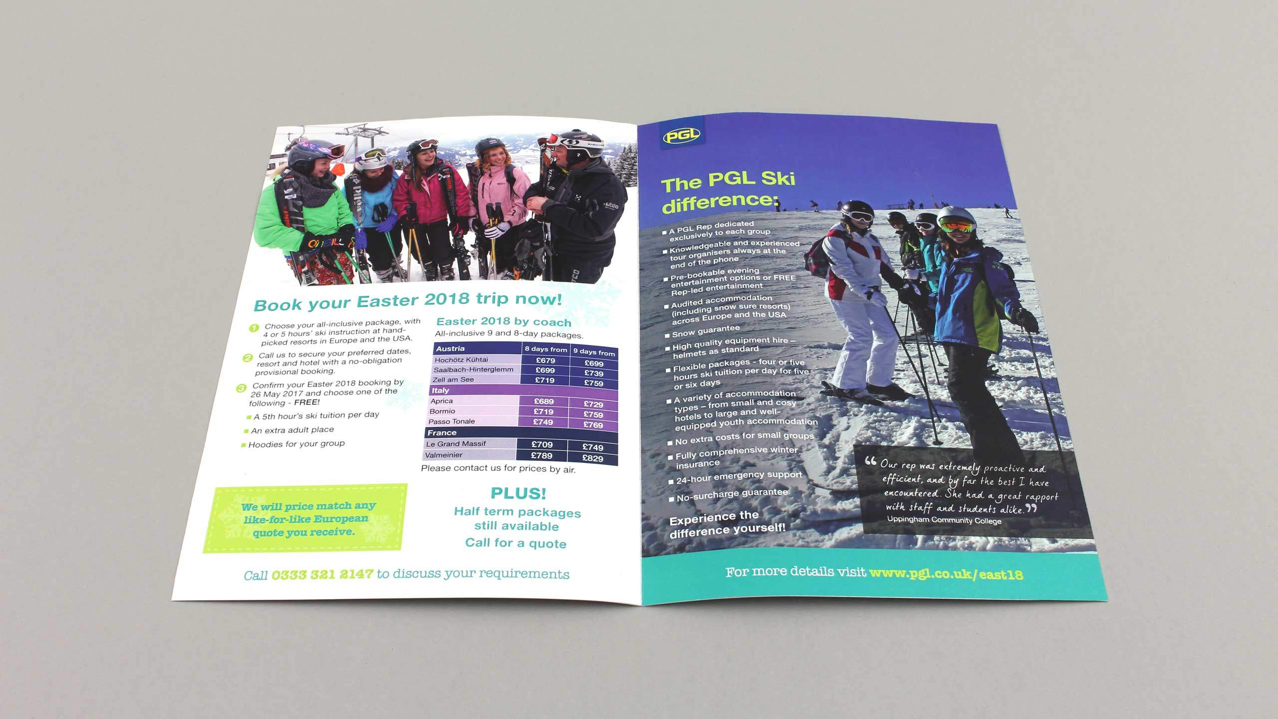 school adventure brochure design book pgl difference pages pgl travel
