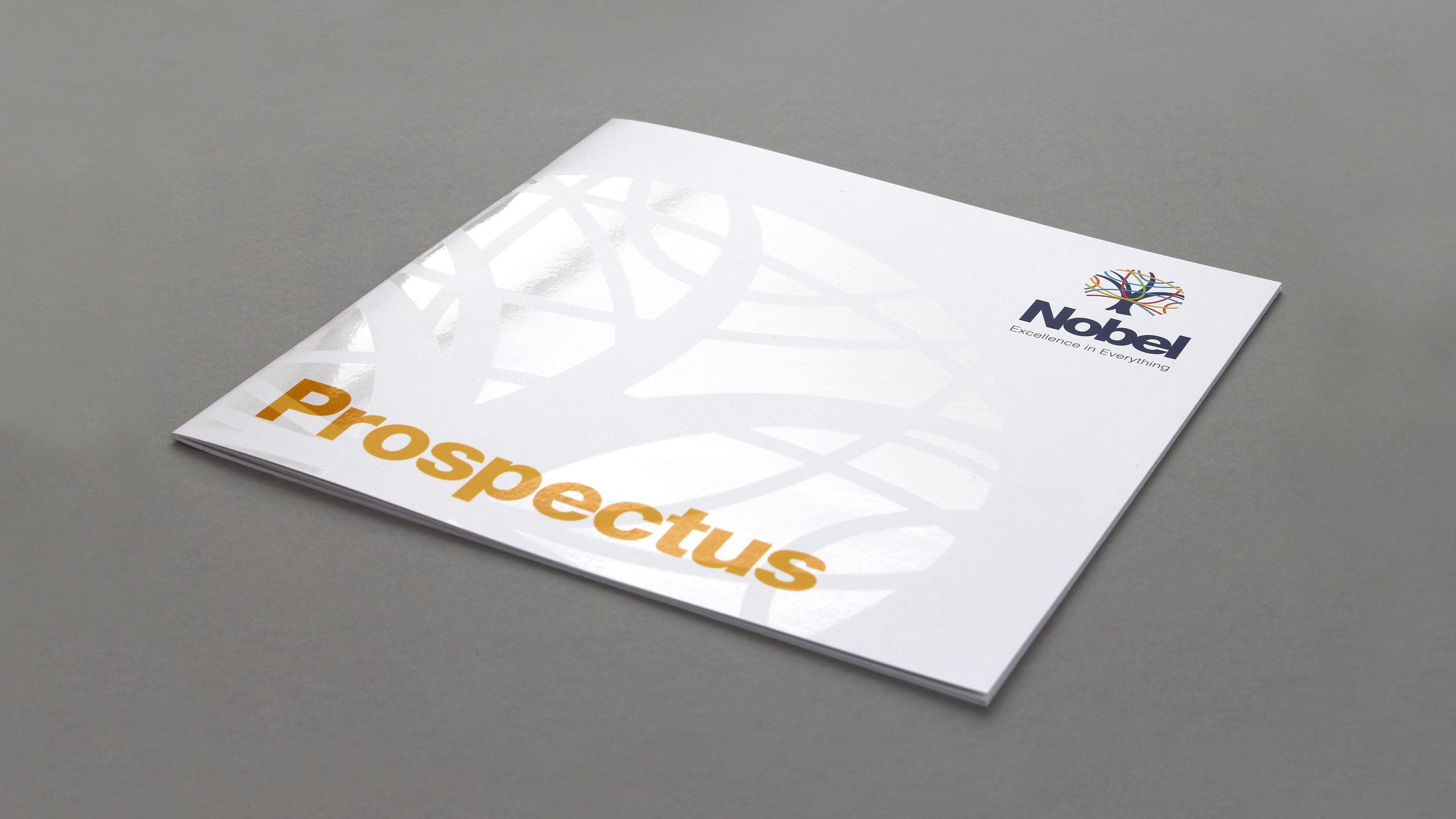 secondary school brochure design prospectus cover the nobel school