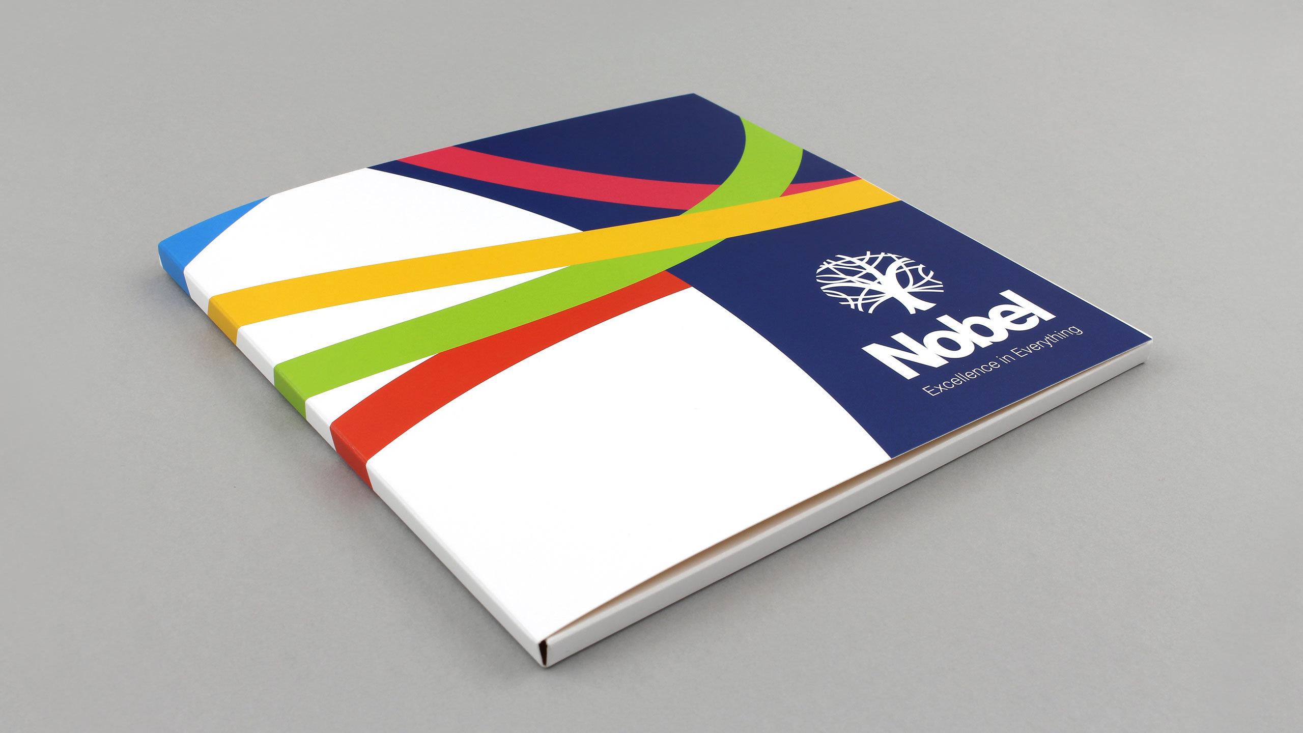 secondary school brochure design prospectus folder the nobel school