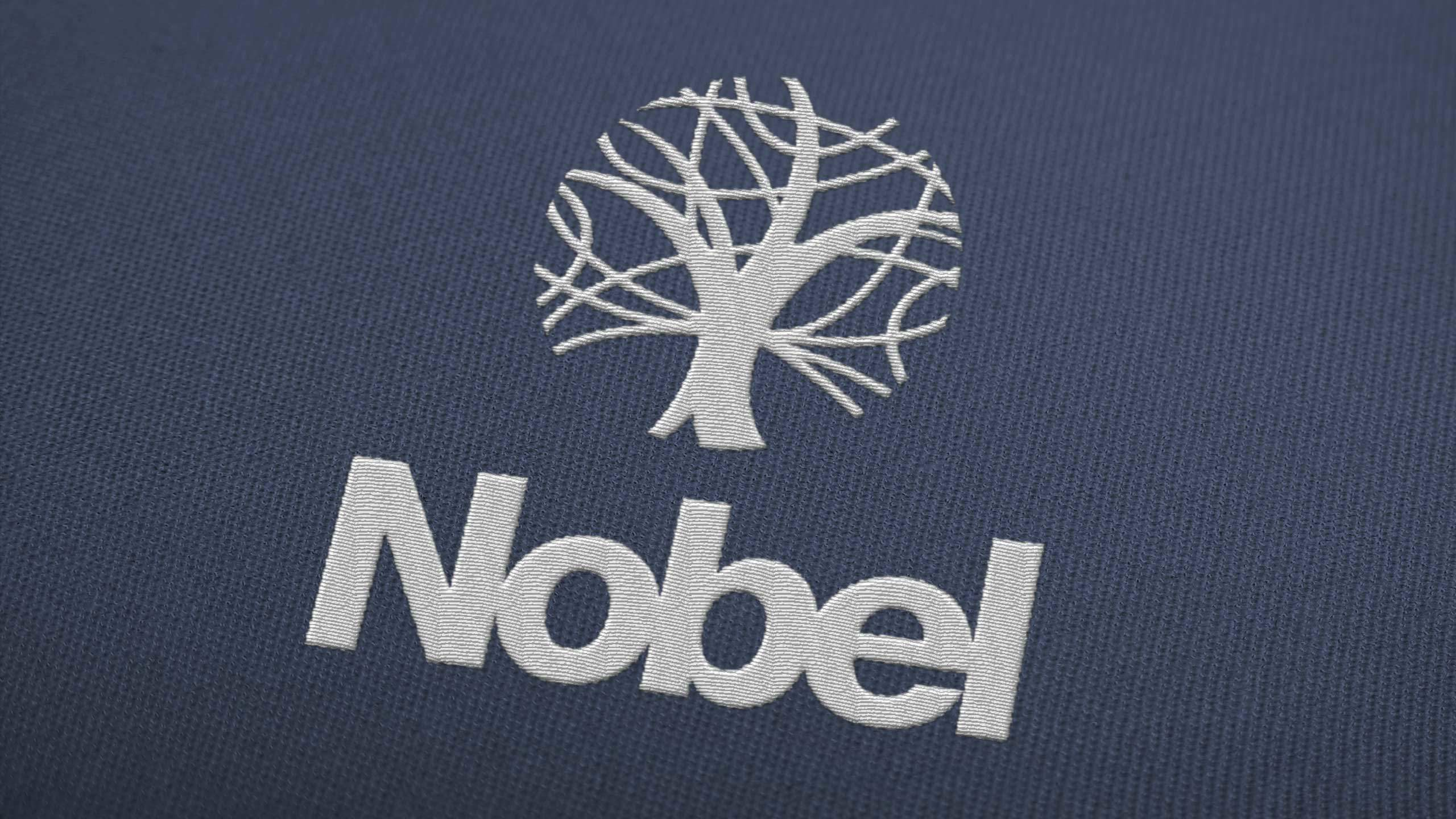 secondary school logo design embroidered the nobel school