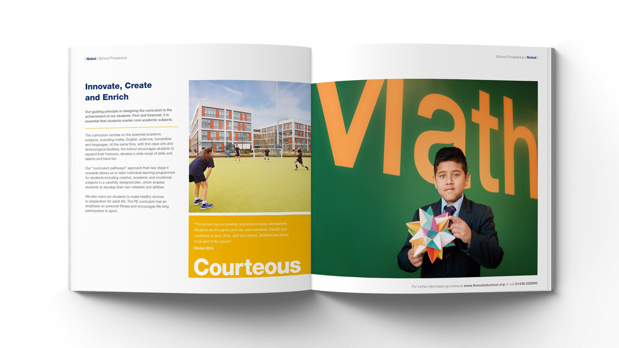 secondary school prospectus design innovate create enrich pages the nobel school
