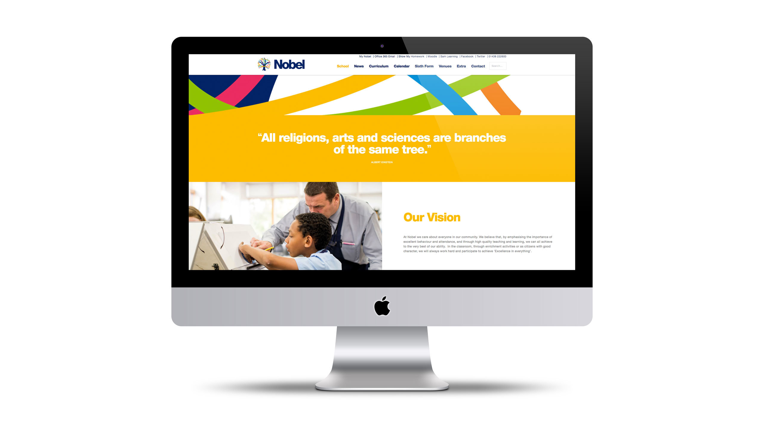 secondary school website design our vision page imac the nobel school