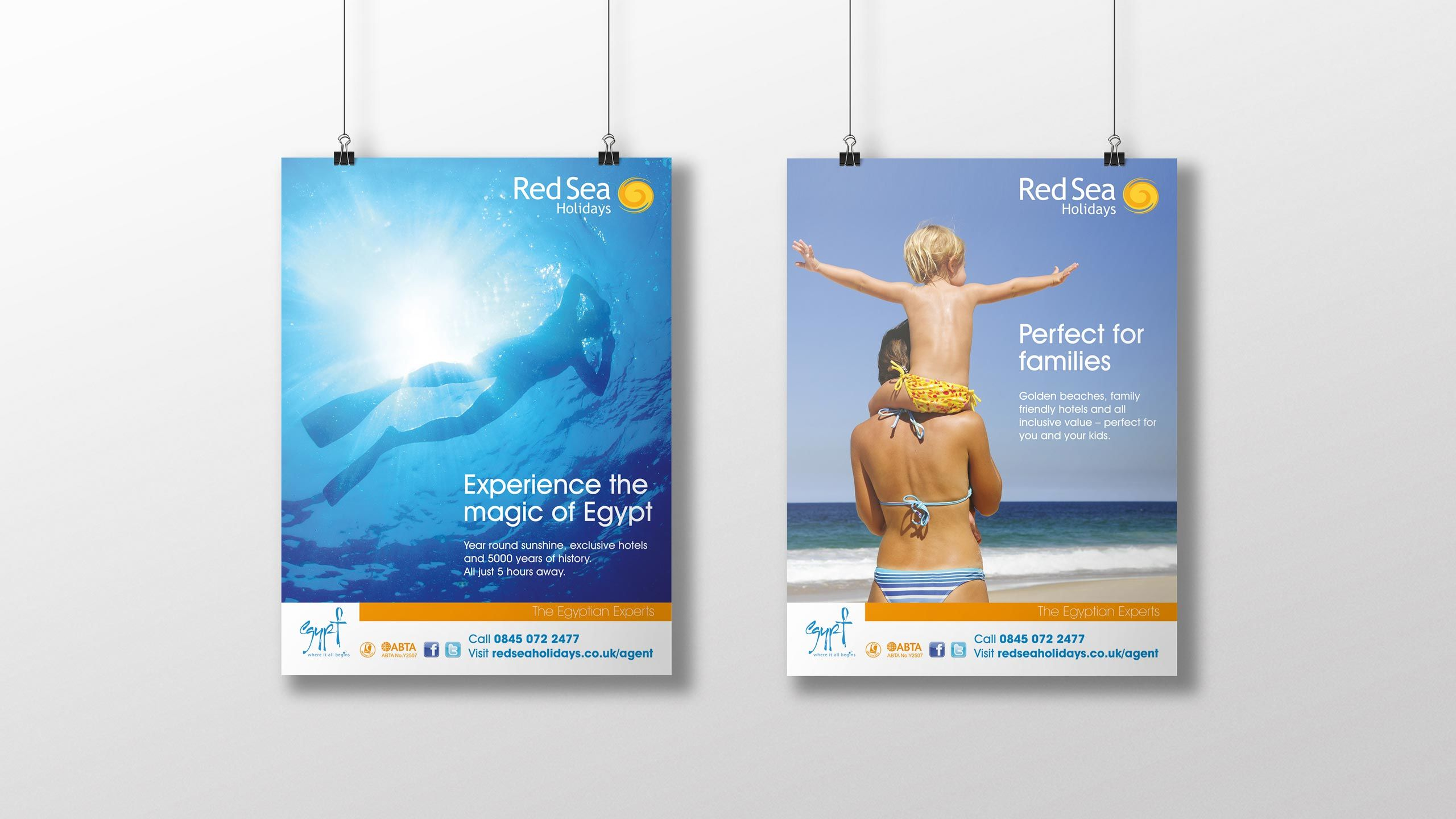 tour operator branding posters snorkeler woman child red sea holidays