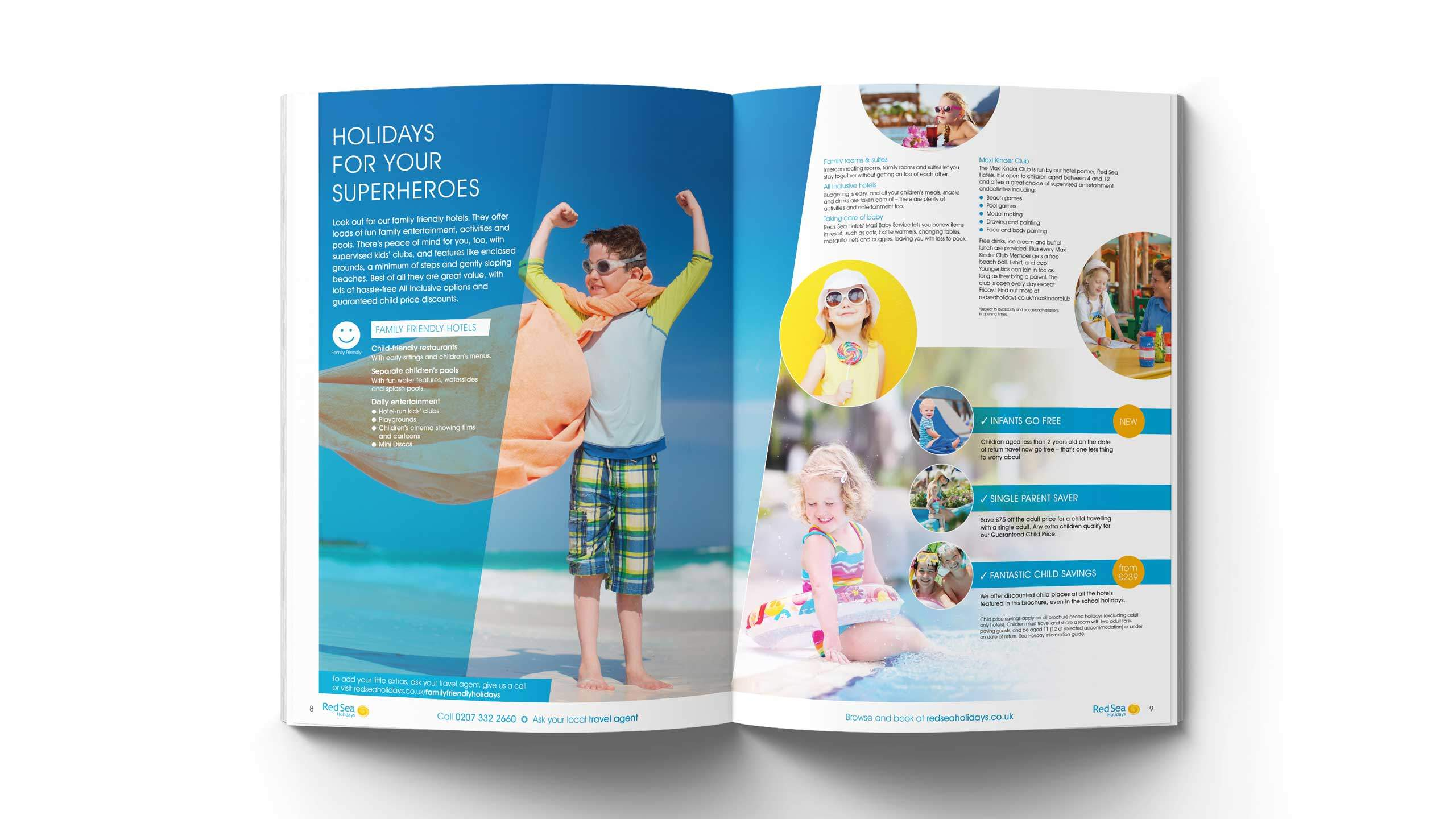 tour operator brochure design holidays for superheroes pages red sea holidays