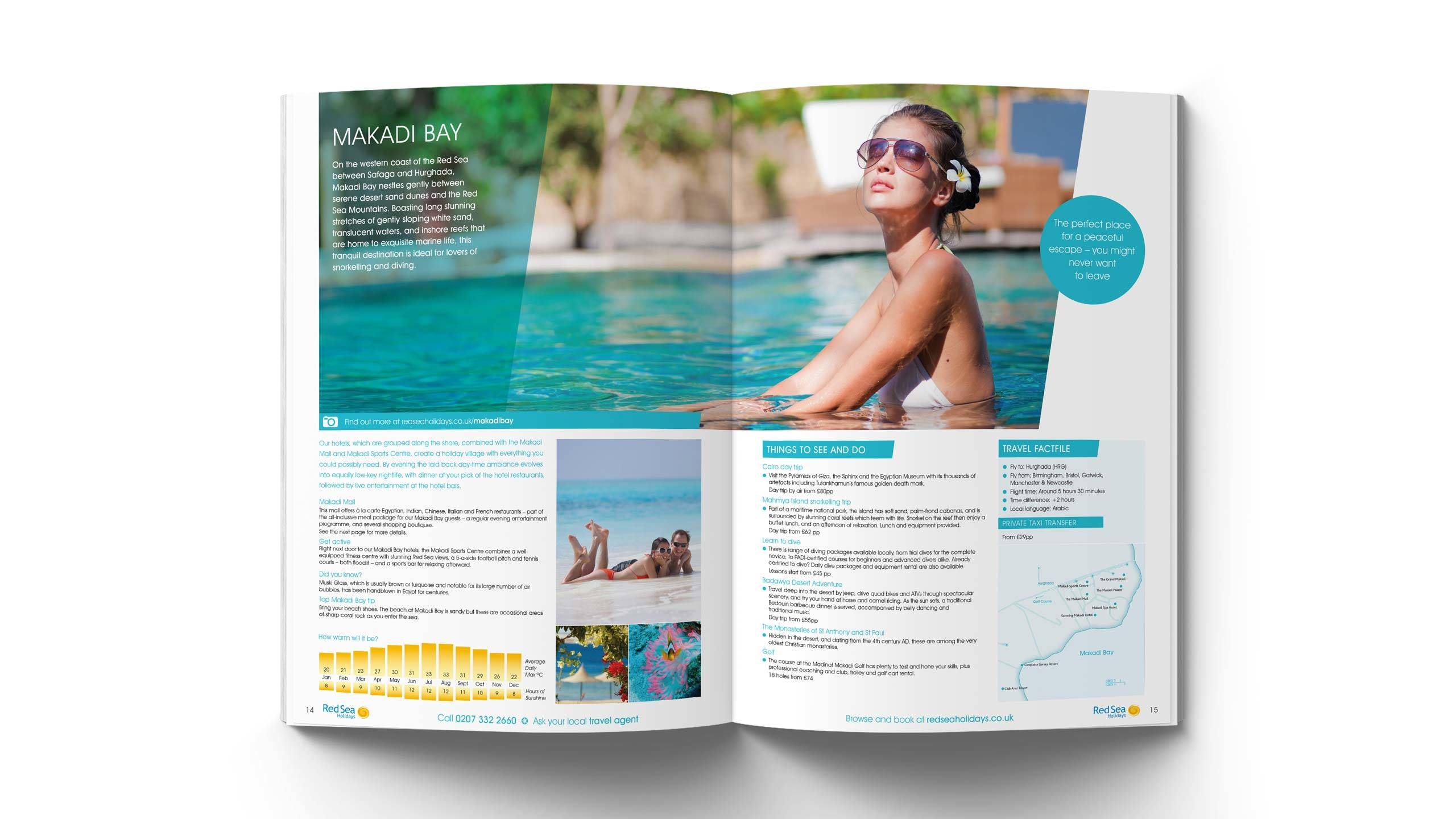 tour operator brochure design makadi bay intro pages red sea holidays