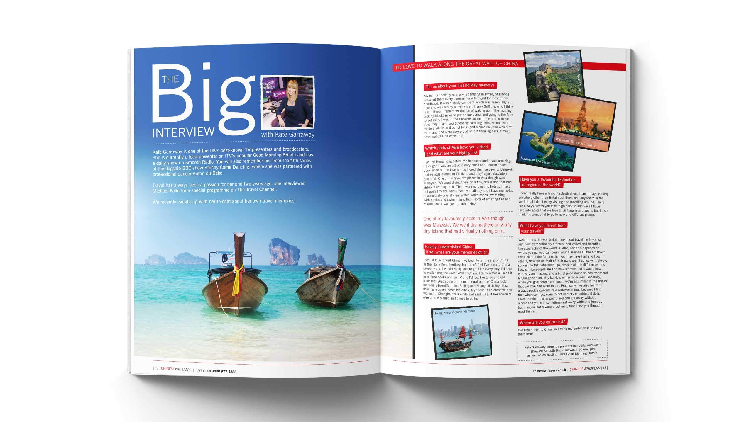 travel company brochure design big interview kate garraway pages wendy wu
