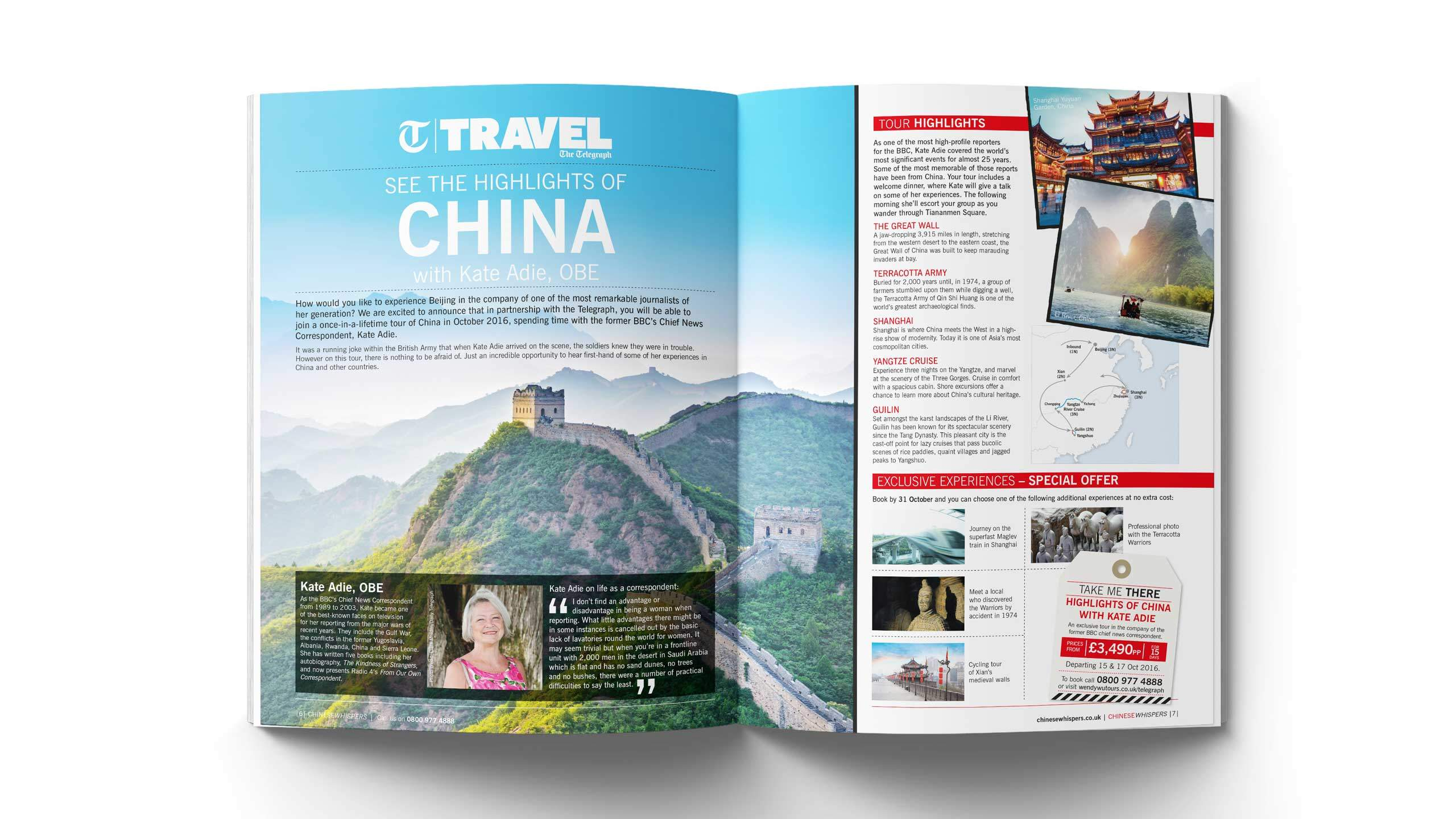 travel company brochure design china highlights kate adie pages wendy wu