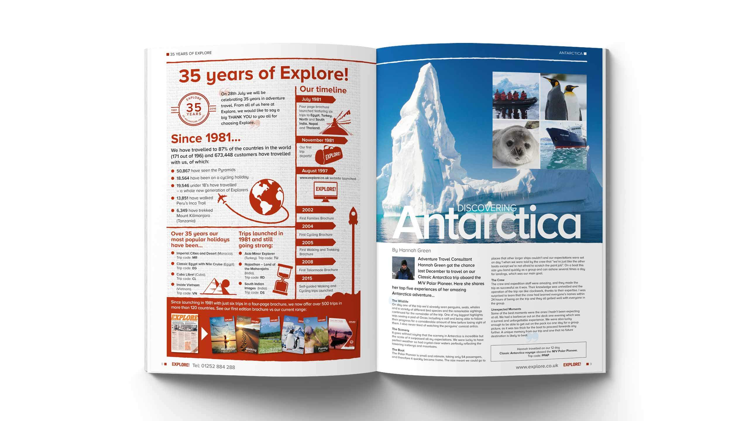 travel magazine graphic design 35 years explore timeline pages longitude