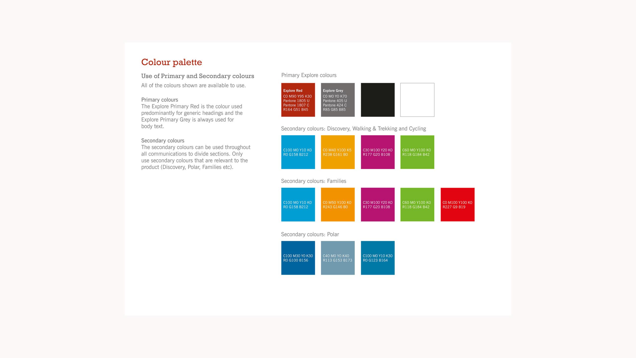 adventure travel branding brand guidelines colour palette explore worldwide