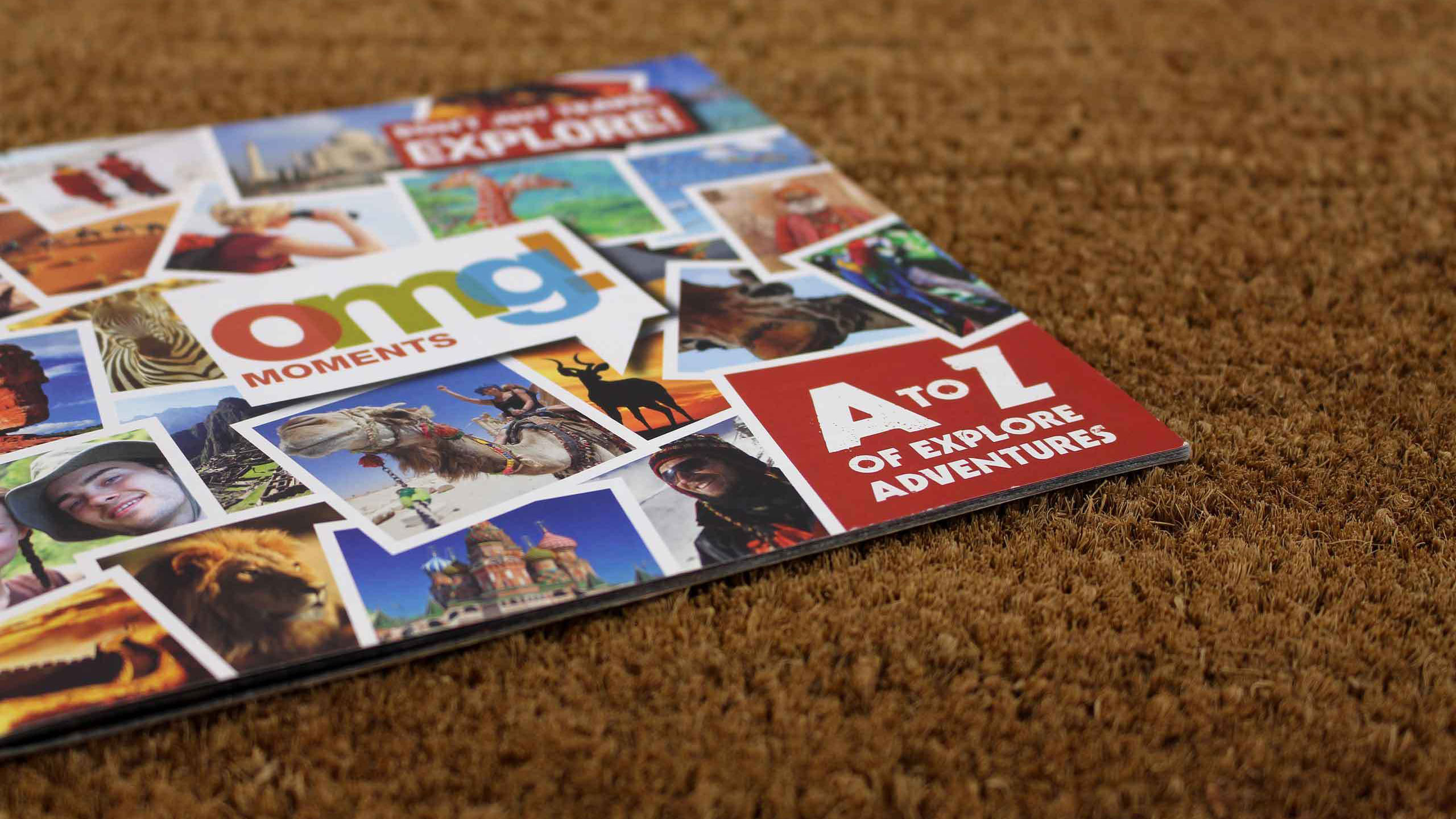 adventure travel brochure design doormat omg marketing campaign