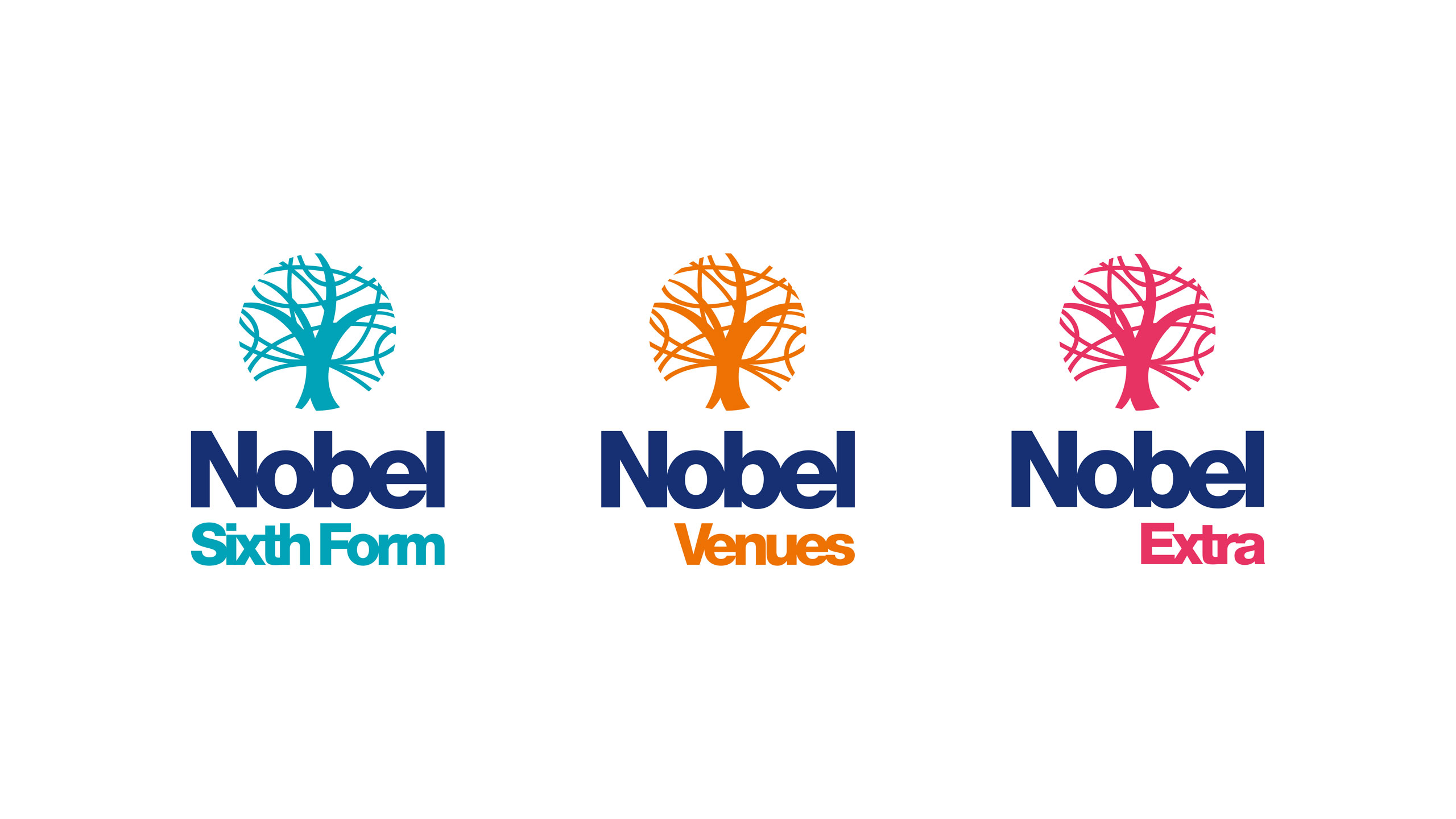 secondary school logo design sub brands the nobel school